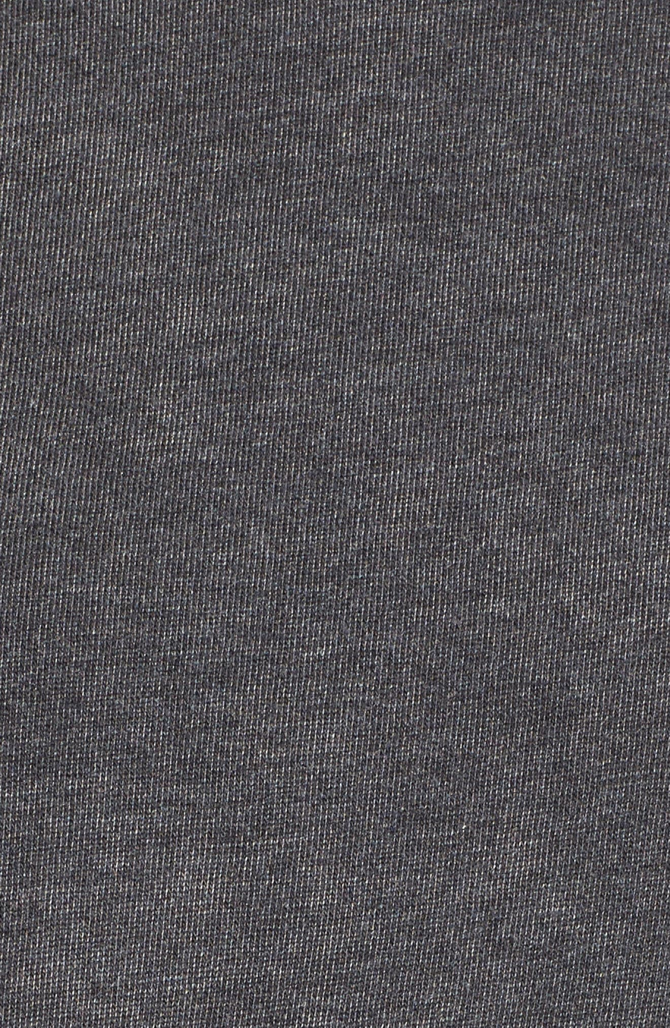 Lace-Up Fleece Pullover,                             Alternate thumbnail 5, color,                             001