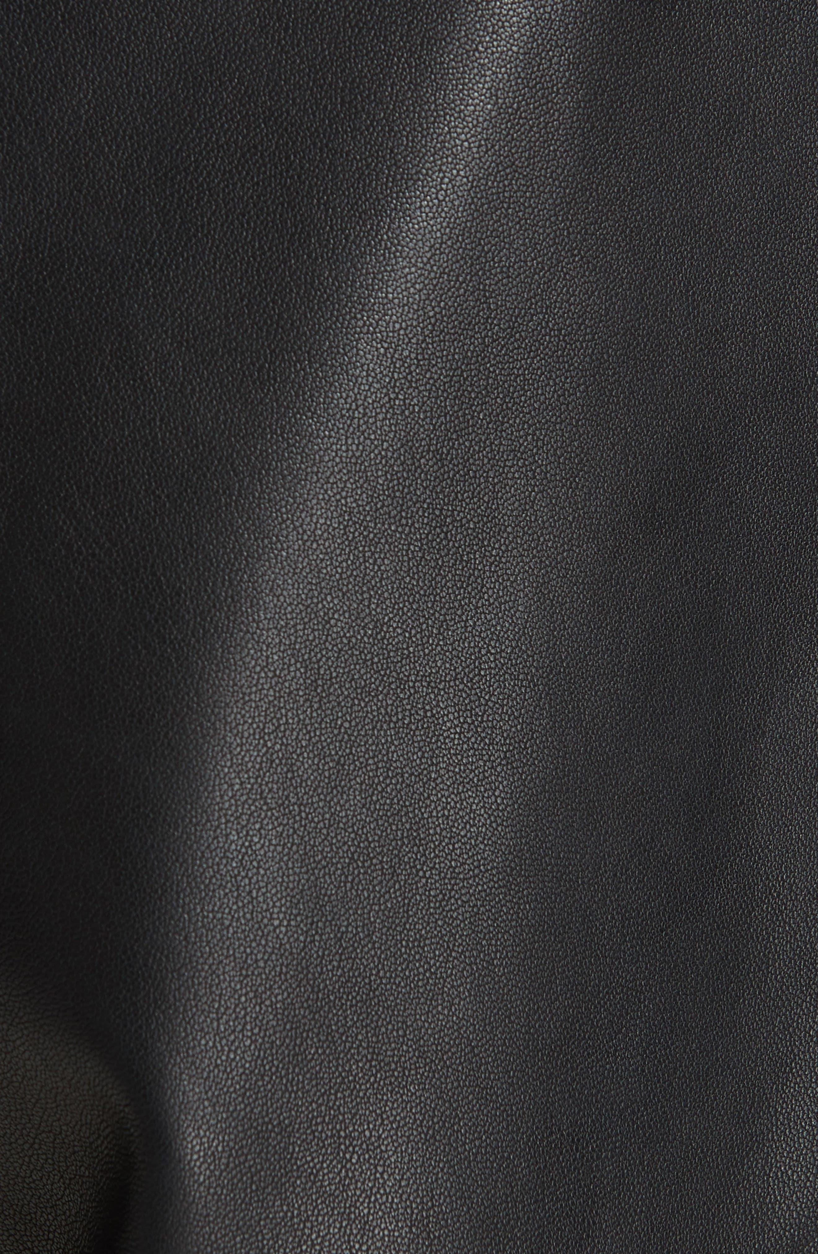 Leather Shorts,                             Alternate thumbnail 5, color,                             BLACK