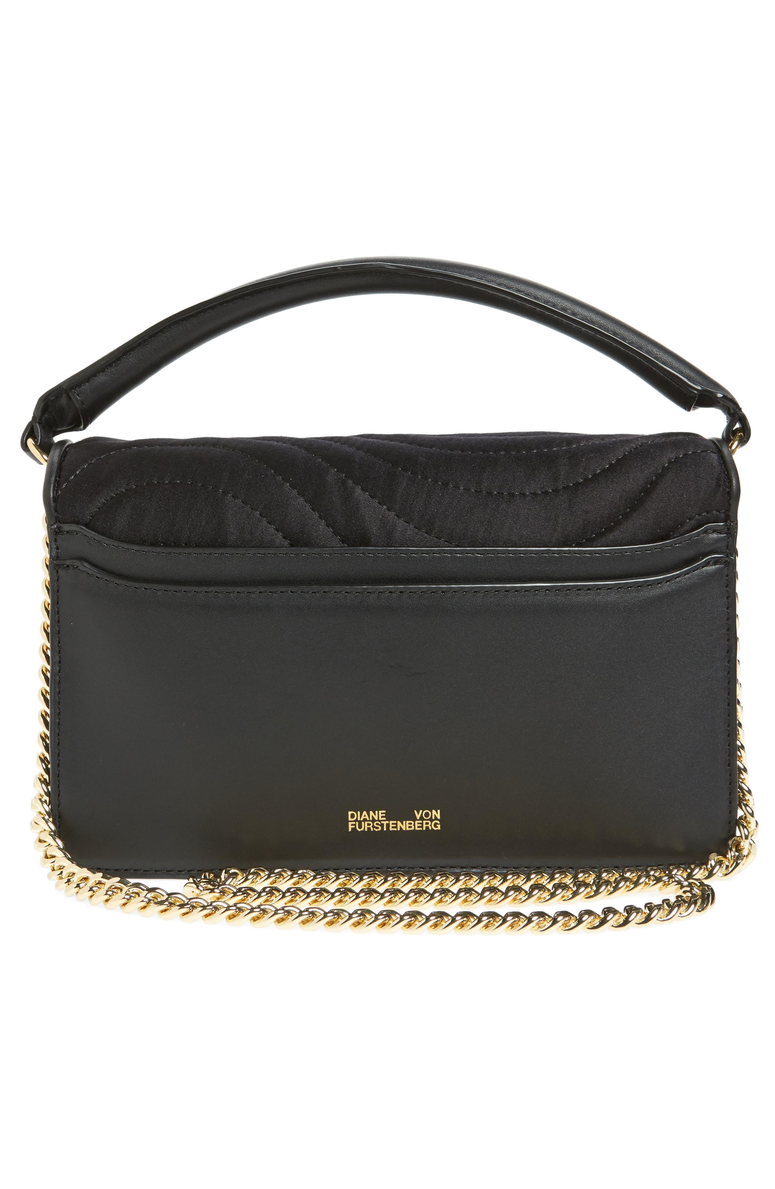 Bonne Soirée Quilted Top Handle Bag,                             Alternate thumbnail 3, color,                             001