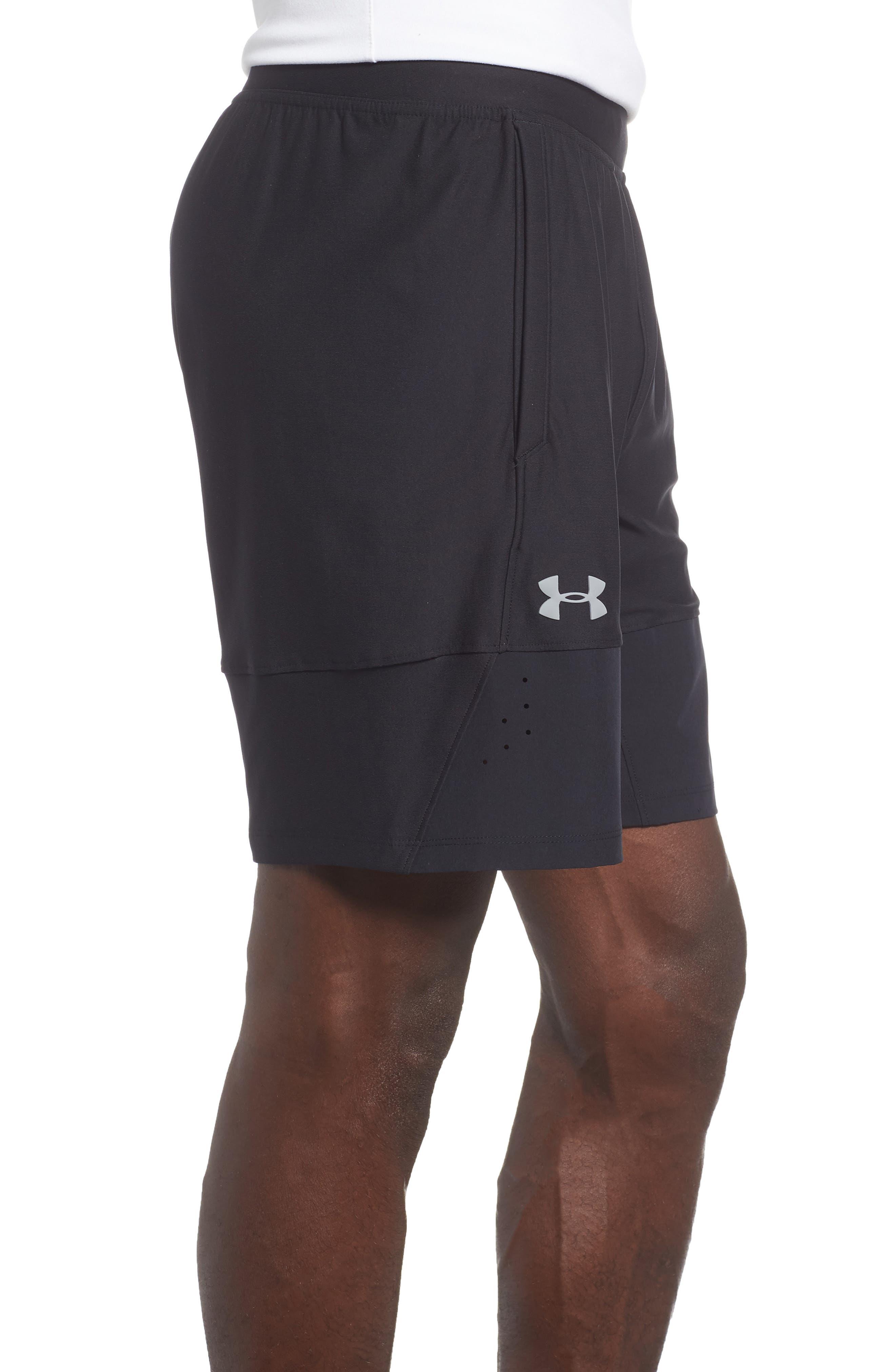 Threadborne Vanish Fitted Shorts,                             Alternate thumbnail 3, color,                             BLACK