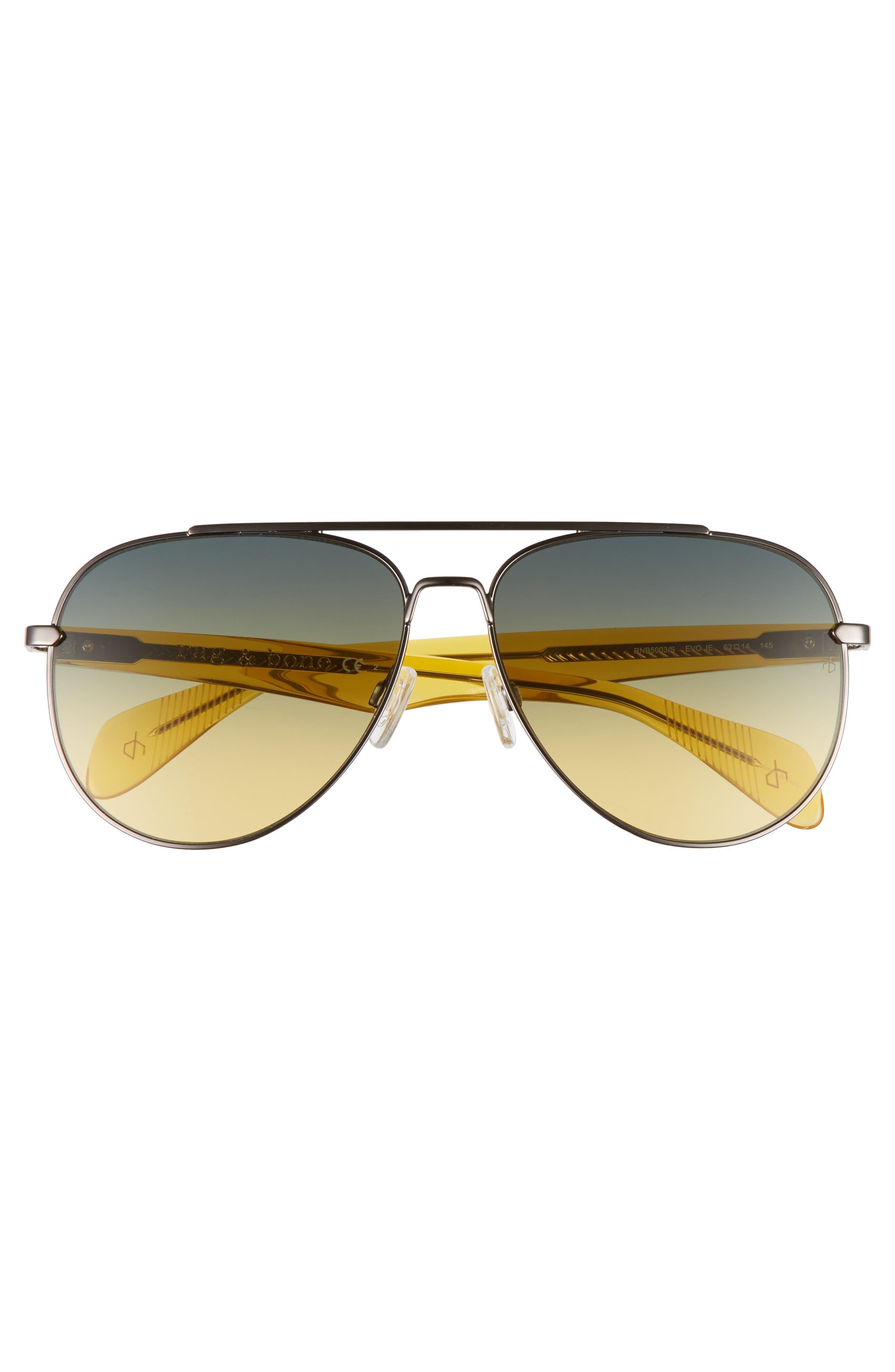 62mm Oversize Aviator Sunglasses,                             Alternate thumbnail 2, color,                             220