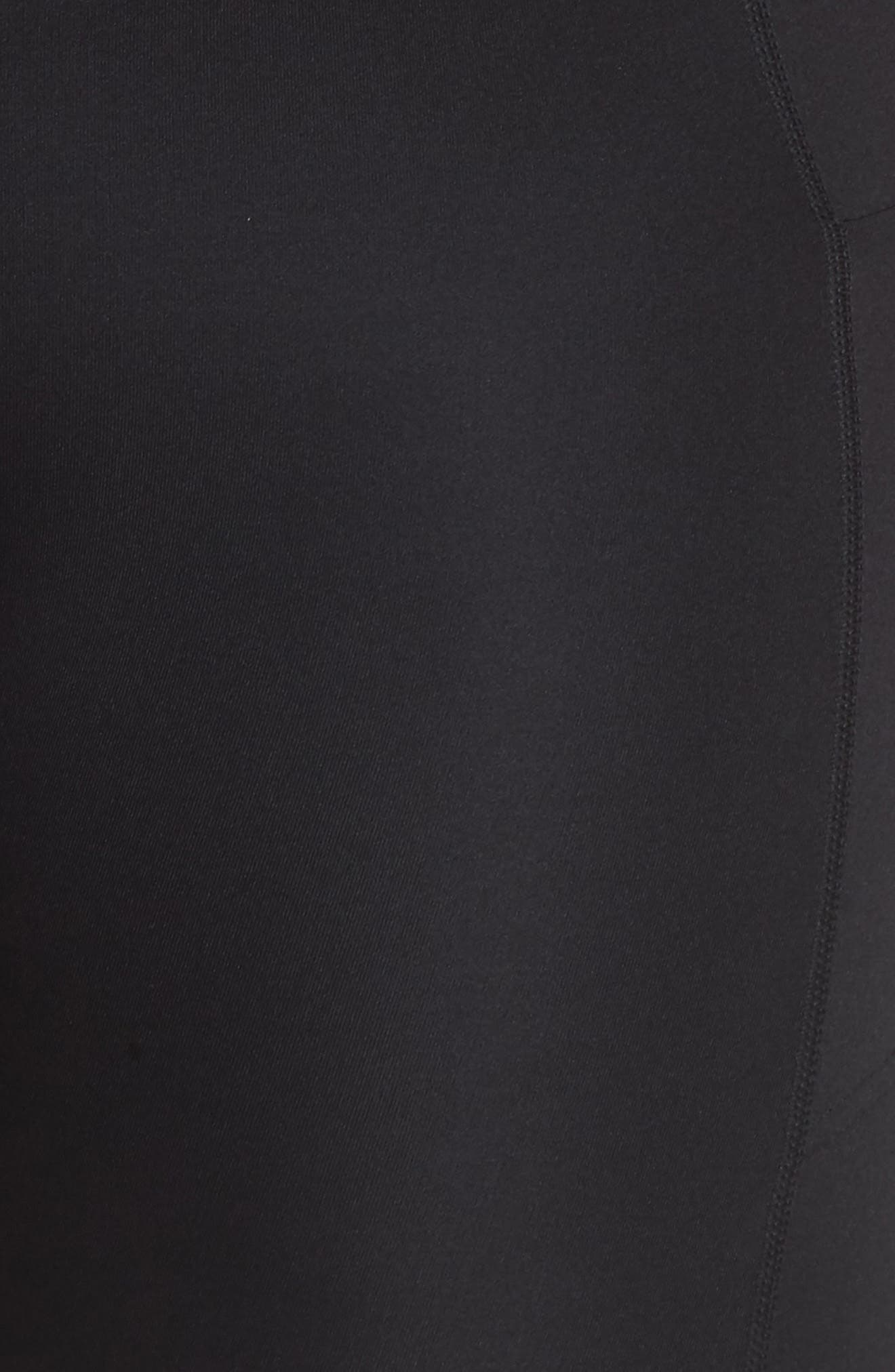 High Waist Run Sprint In Crop Leggings,                             Alternate thumbnail 12, color,                             BLACK