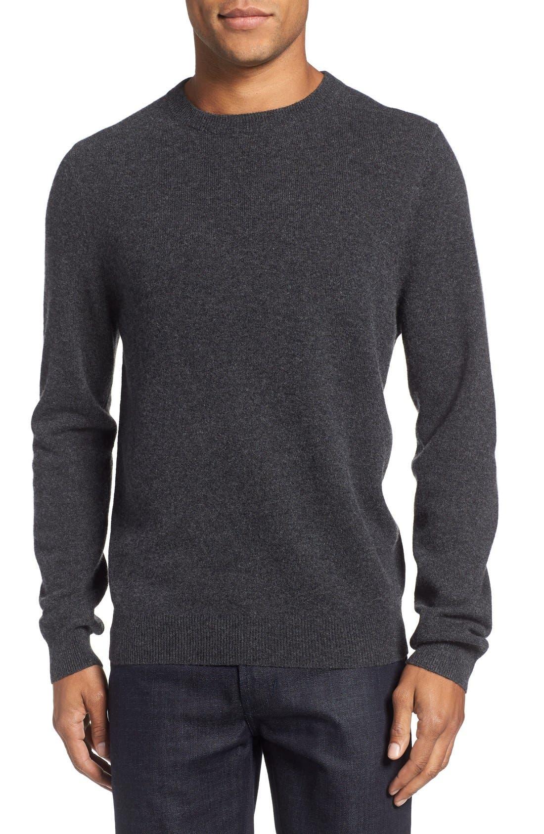 Nordstrom Shop Cashmere Crewneck Sweater, Grey