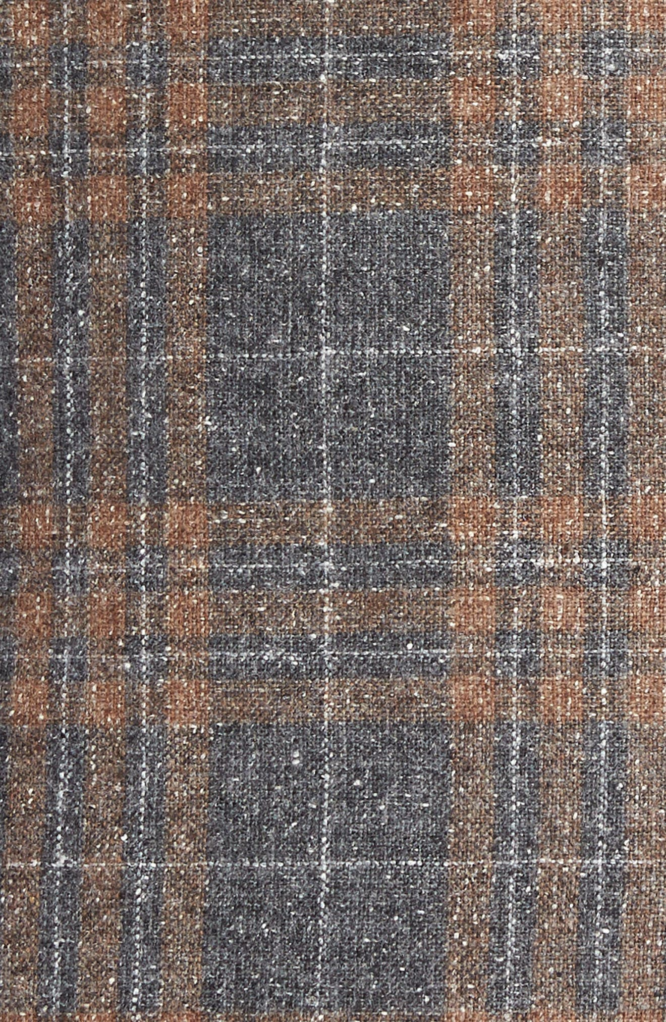 BOSS,                             Janson Classic Fit Plaid Wool Blend Sport Coat,                             Alternate thumbnail 6, color,                             MEDIUM GREY