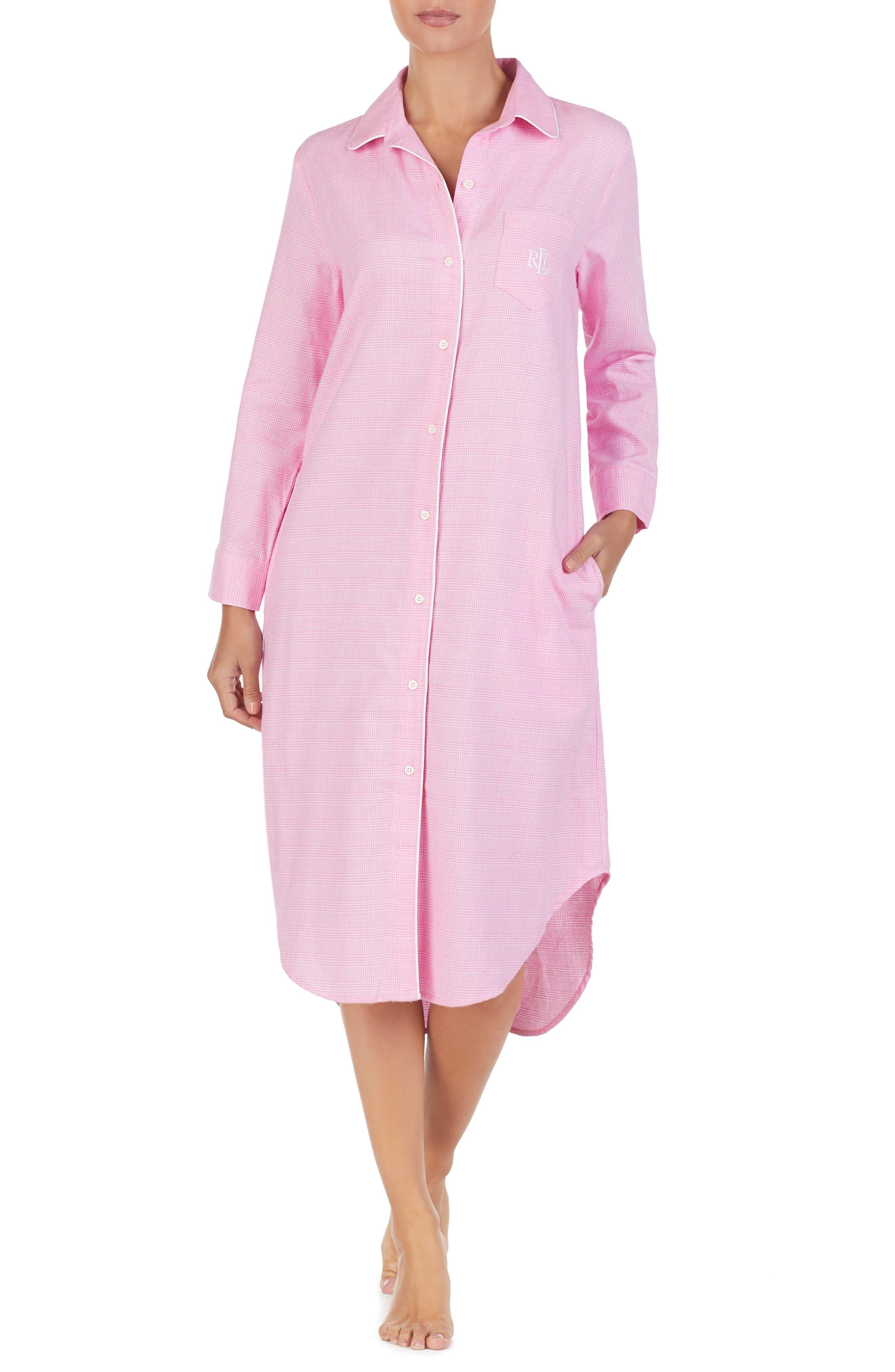 Lauren Ralph Lauren Ballet Sleep Shirt, Pink