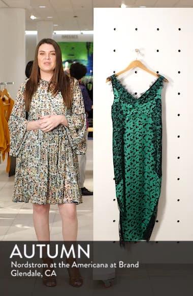 Irina Spot Silhouette Lace & Silk Dress, sales video thumbnail