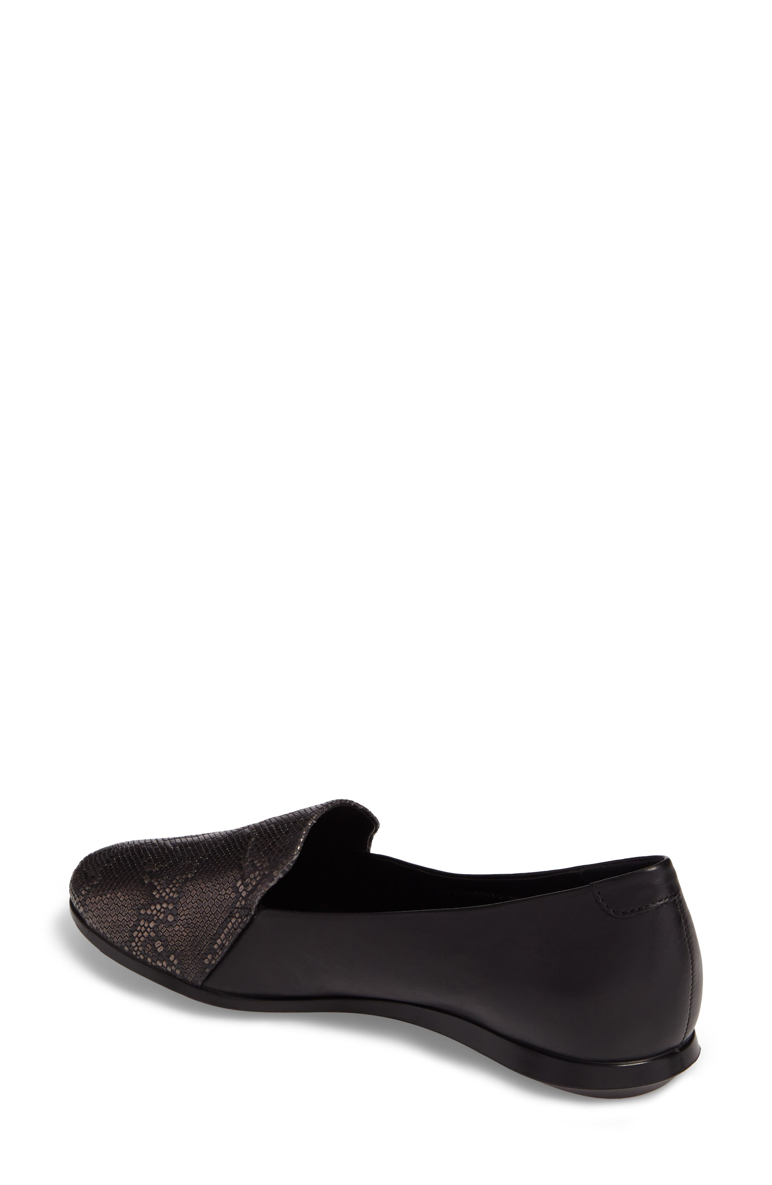 Touch 2.0 Scale Embossed Loafer Flat,                             Alternate thumbnail 2, color,                             DARK SHADOW LEATHER