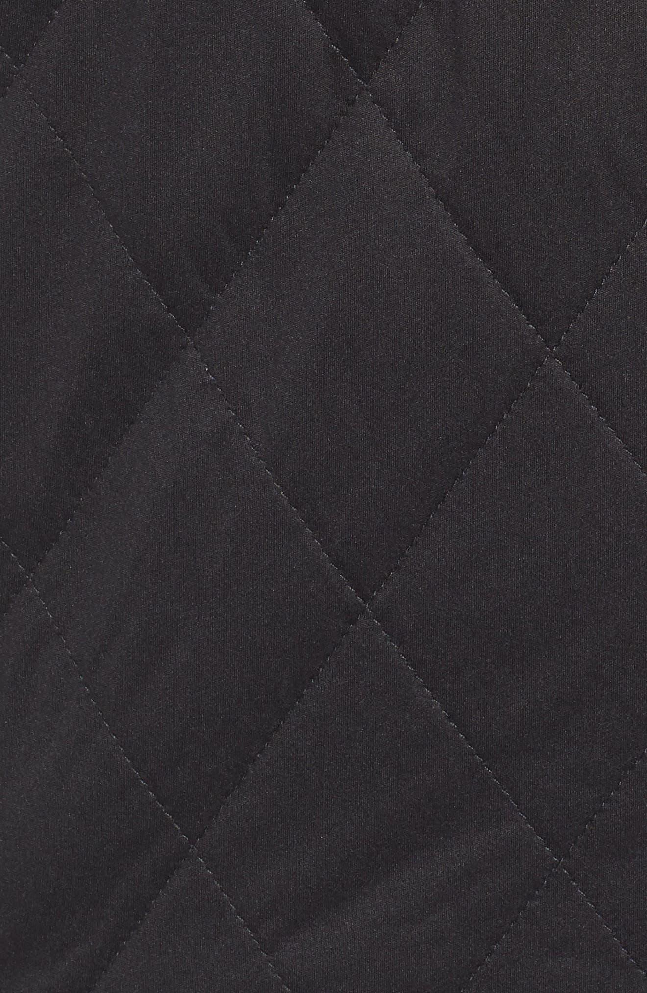 Deuce Regular Fit Reversible Quilted Vest,                             Alternate thumbnail 8, color,                             001