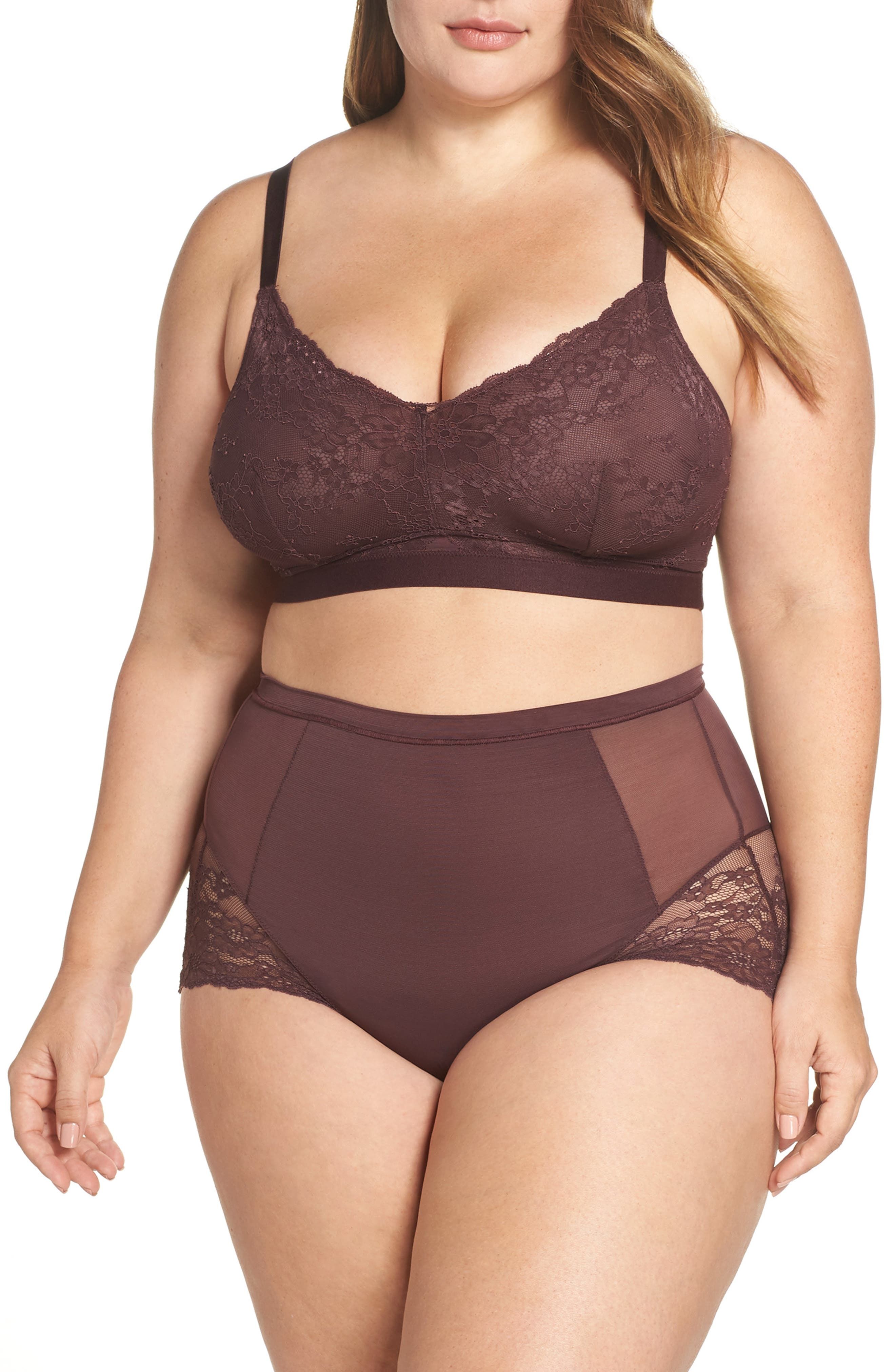 Spotlight On Lace Bralette,                             Alternate thumbnail 9, color,                             GARNET