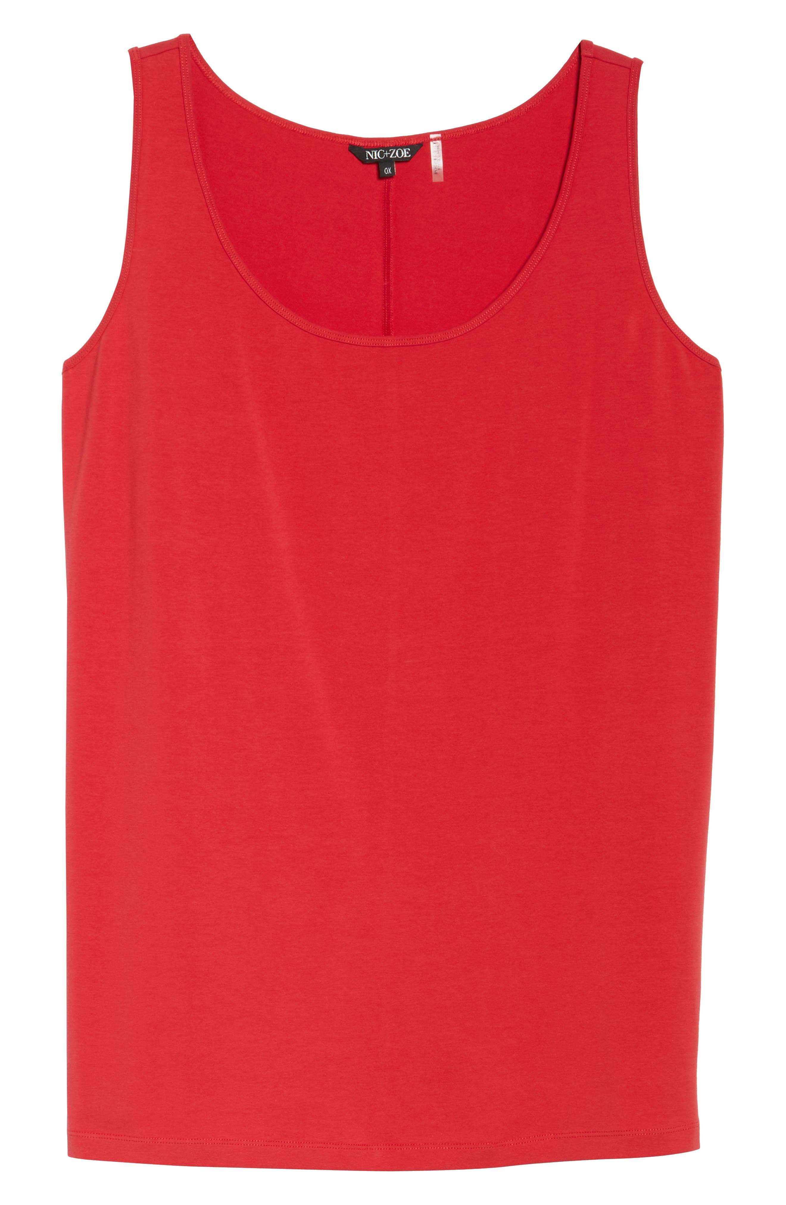 Perfect Scoop Neck Tank,                             Alternate thumbnail 6, color,                             TRUE RED