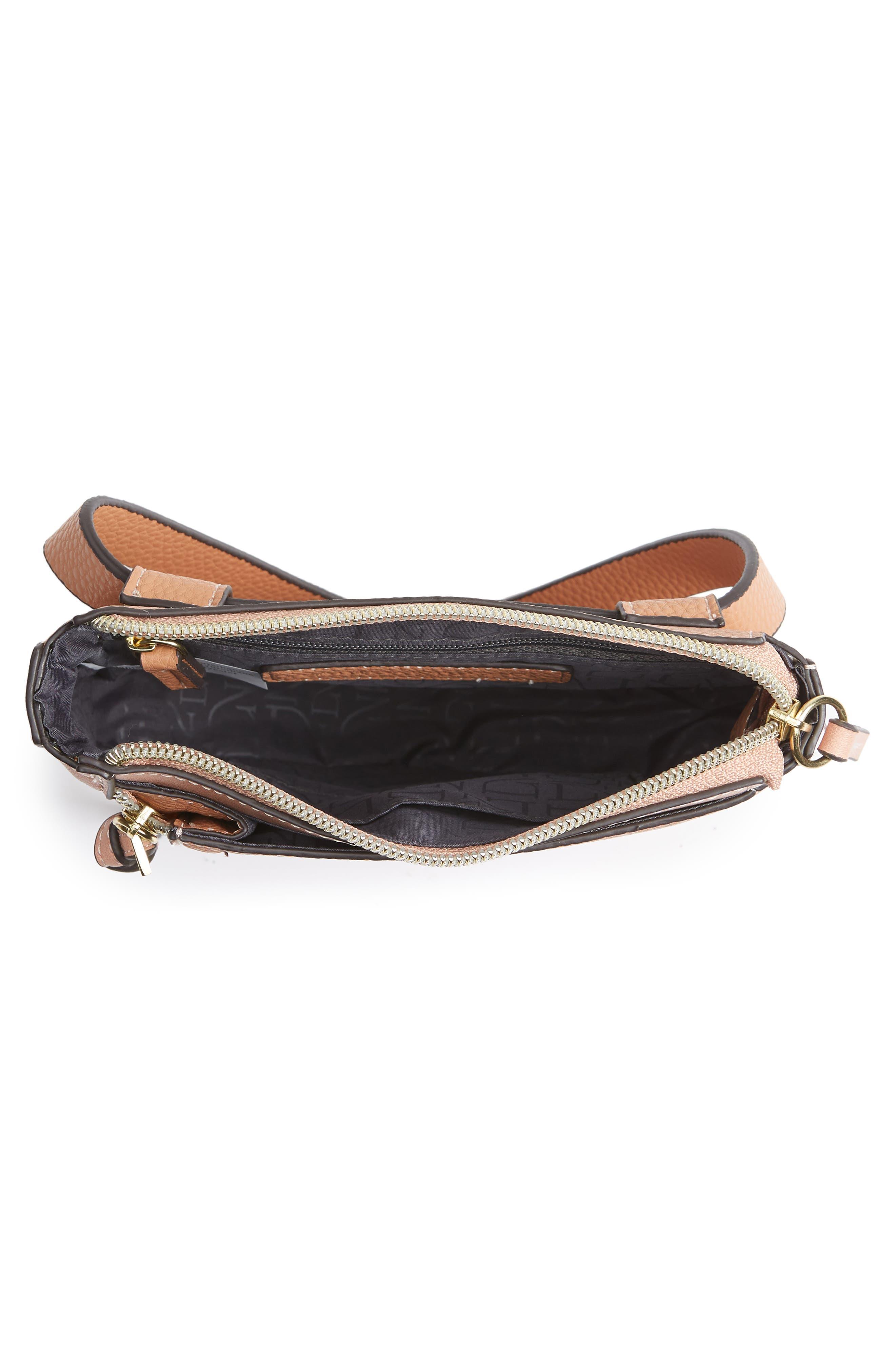 Elia Faux Leather Belt Bag,                             Alternate thumbnail 5, color,                             TAN COMBO