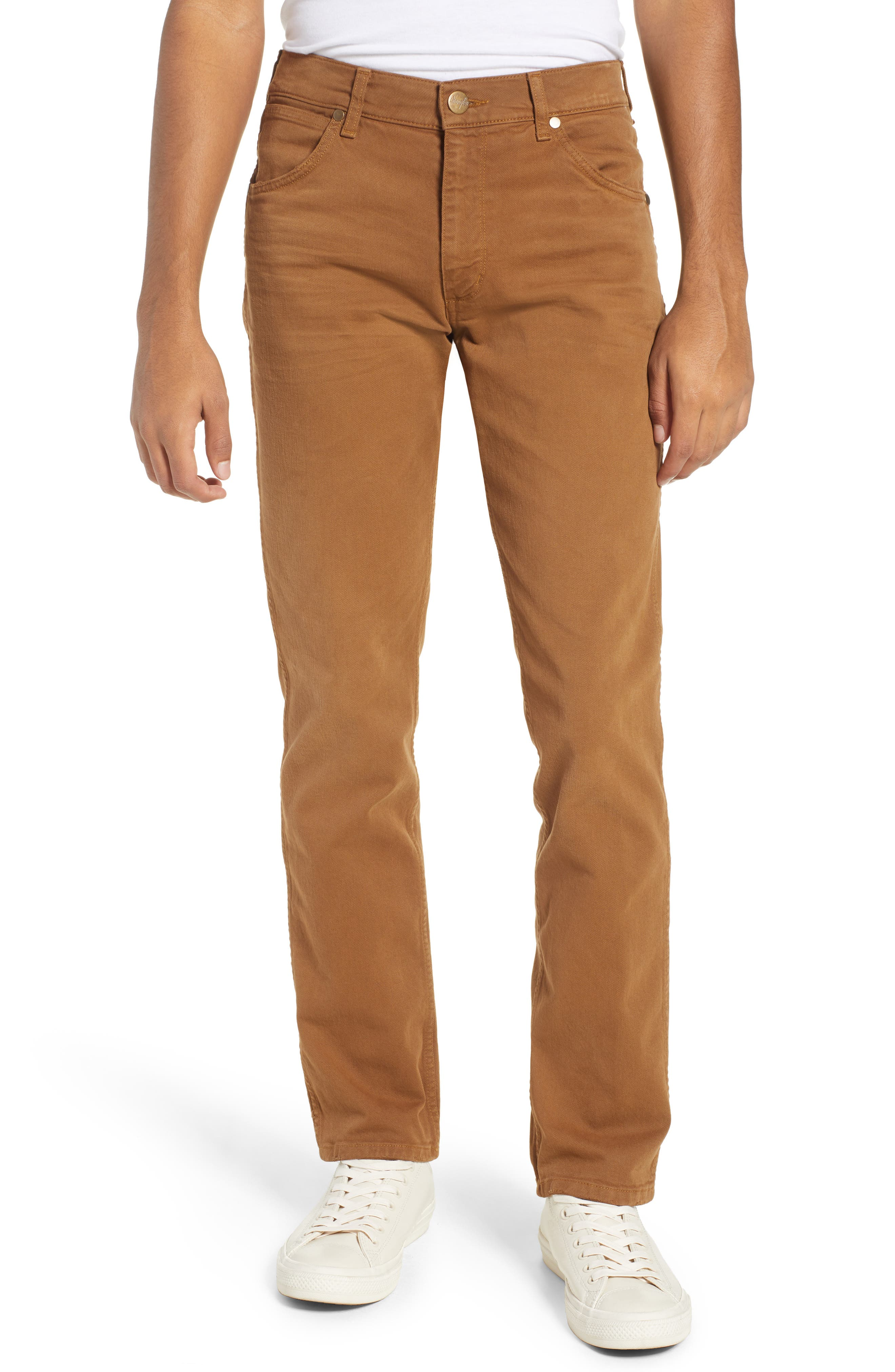 WRANGLER,                             Greensboro Straight Leg Pants,                             Main thumbnail 1, color,                             BISCUIT