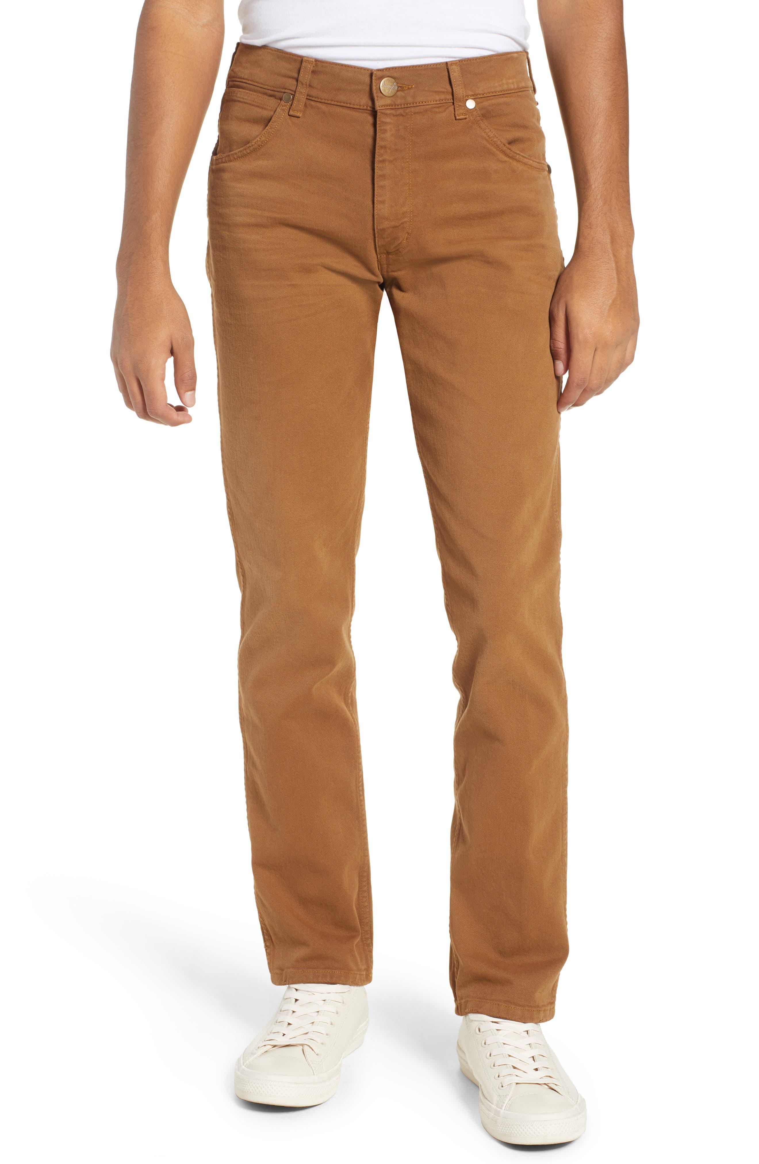 WRANGLER Greensboro Straight Leg Pants, Main, color, BISCUIT