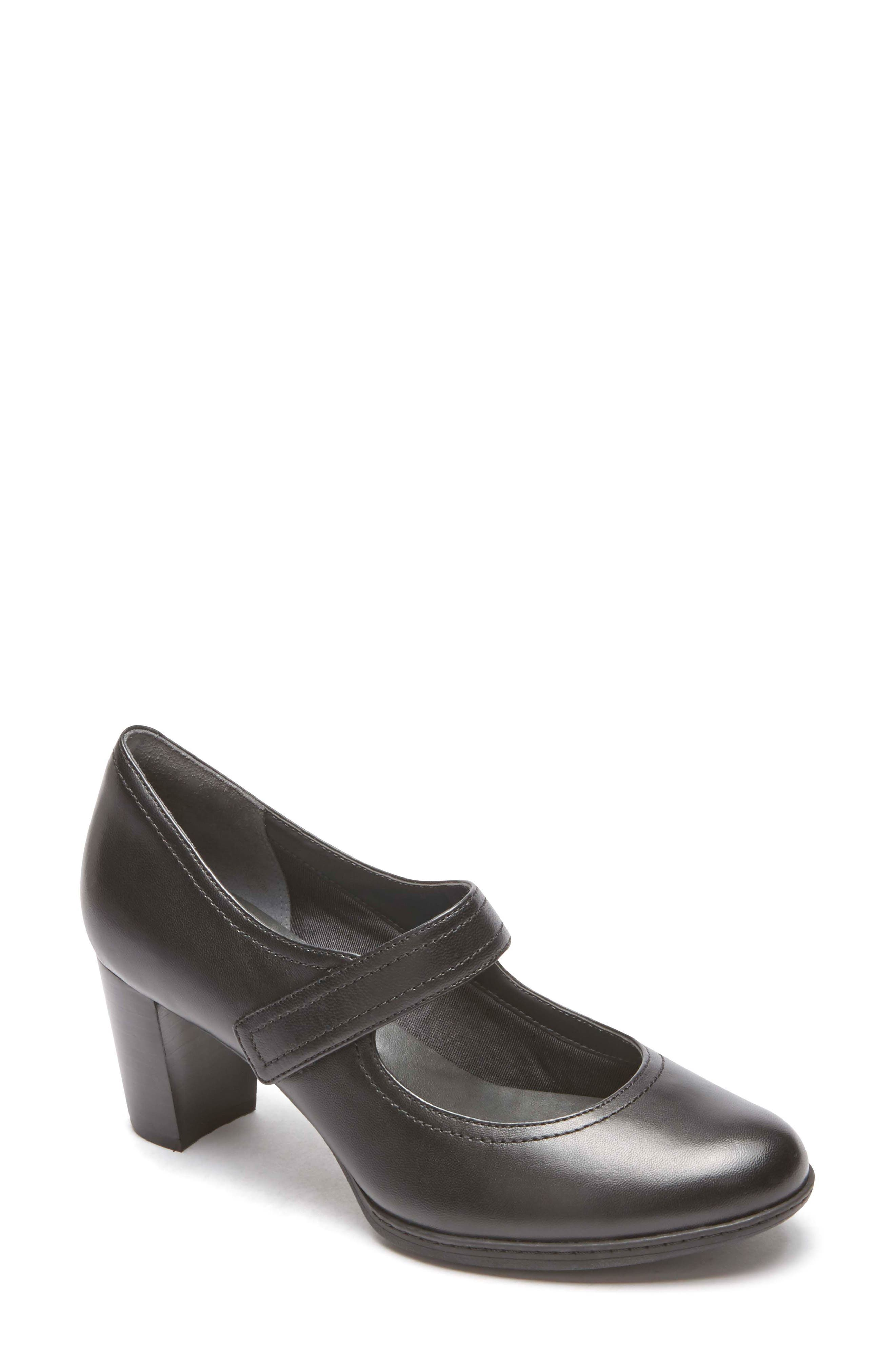 Chaya Mary Jane Pump,                         Main,                         color, BLACK LEATHER