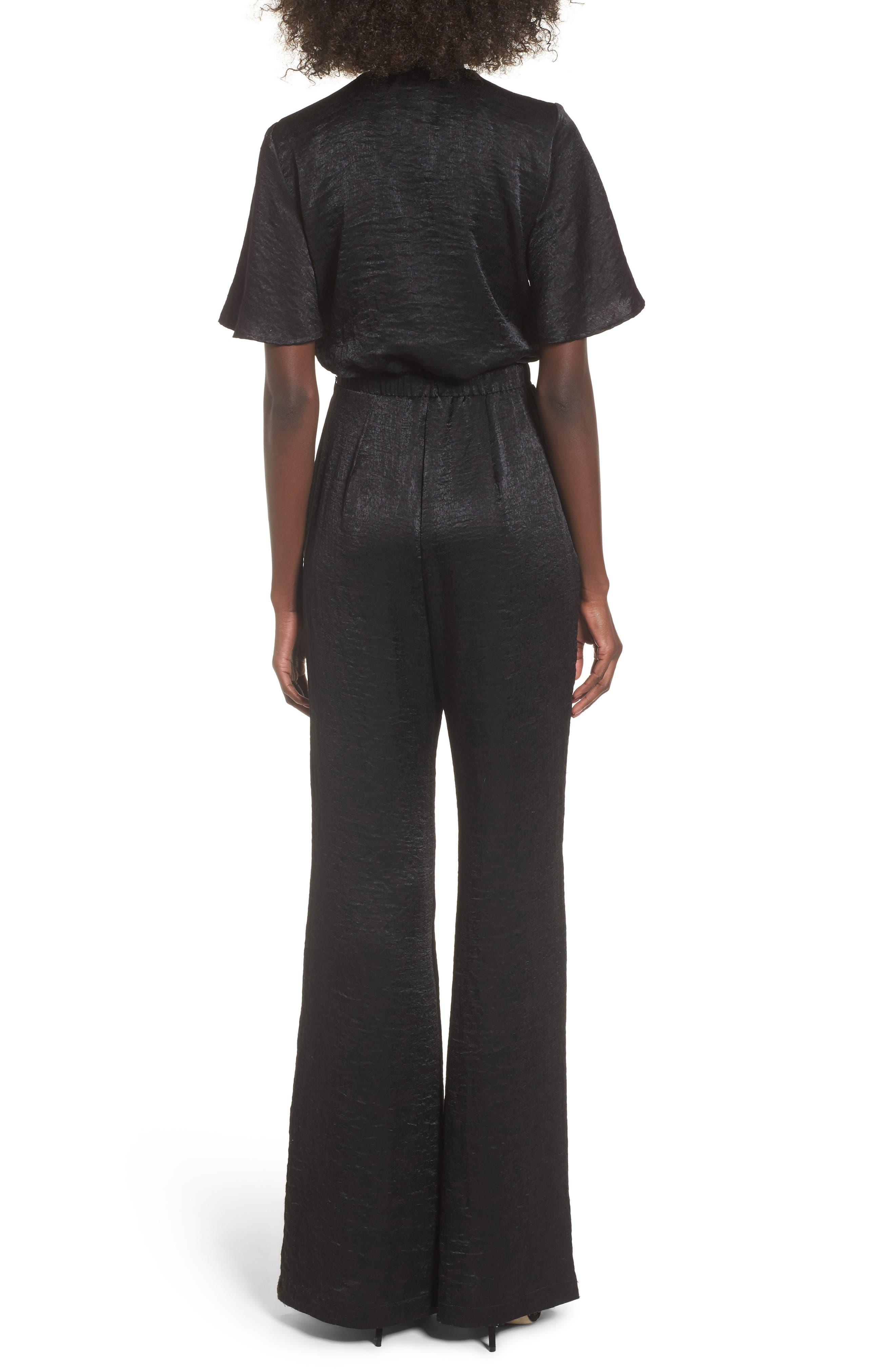 Jenna Tie Waist Jumpsuit,                             Alternate thumbnail 2, color,                             001