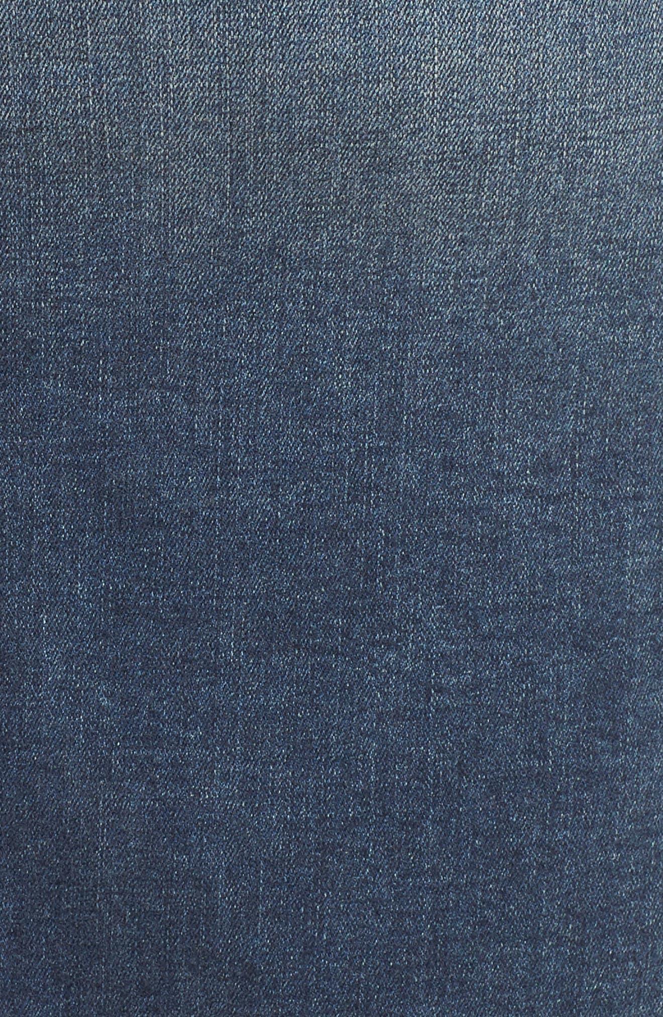 Patchwork Denim Skirt,                             Alternate thumbnail 5, color,                             VANESSA