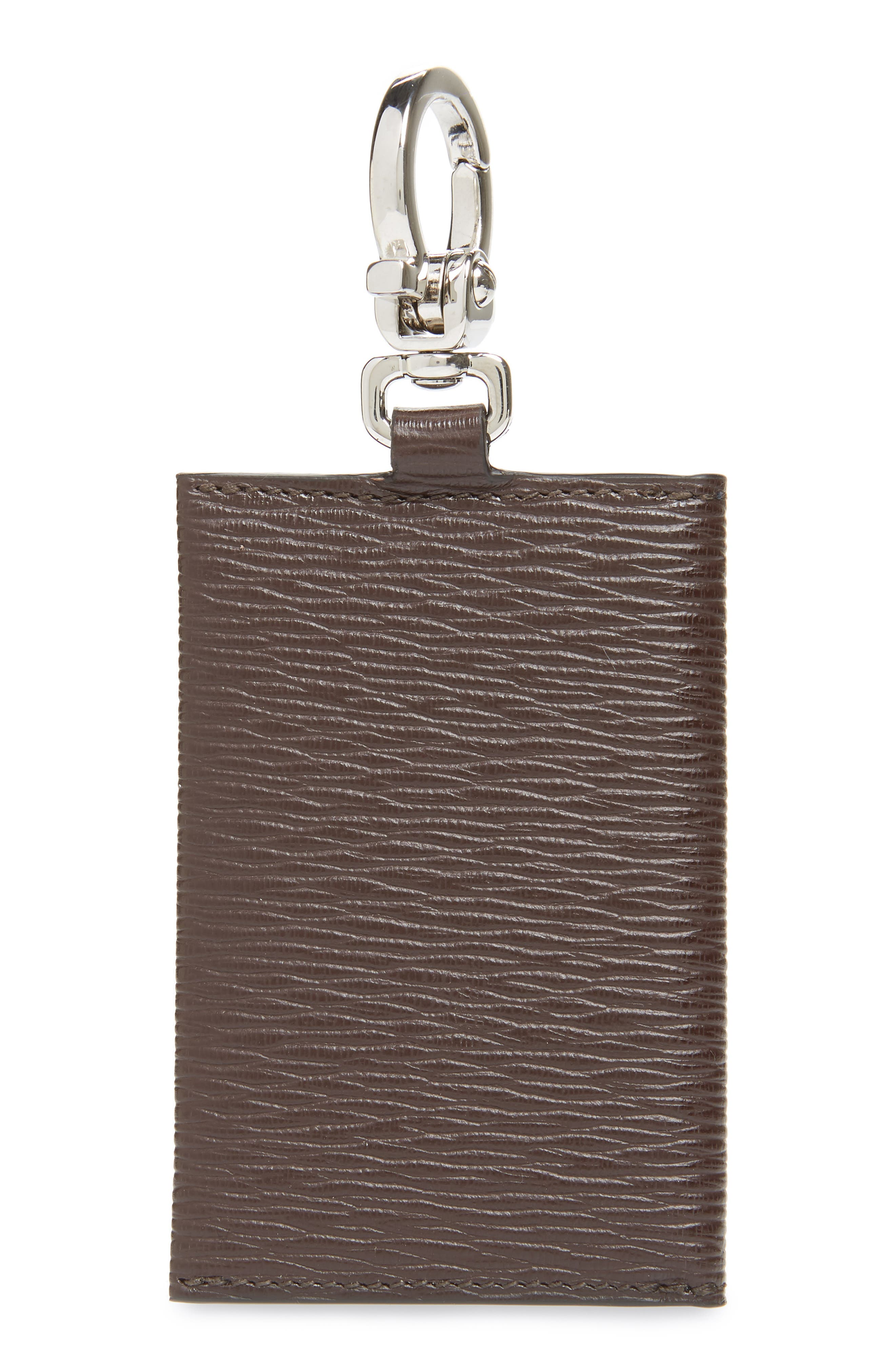 Revival Leather Key Ring Card Case,                             Alternate thumbnail 2, color,                             TOBACCO/ BLUE MARINE