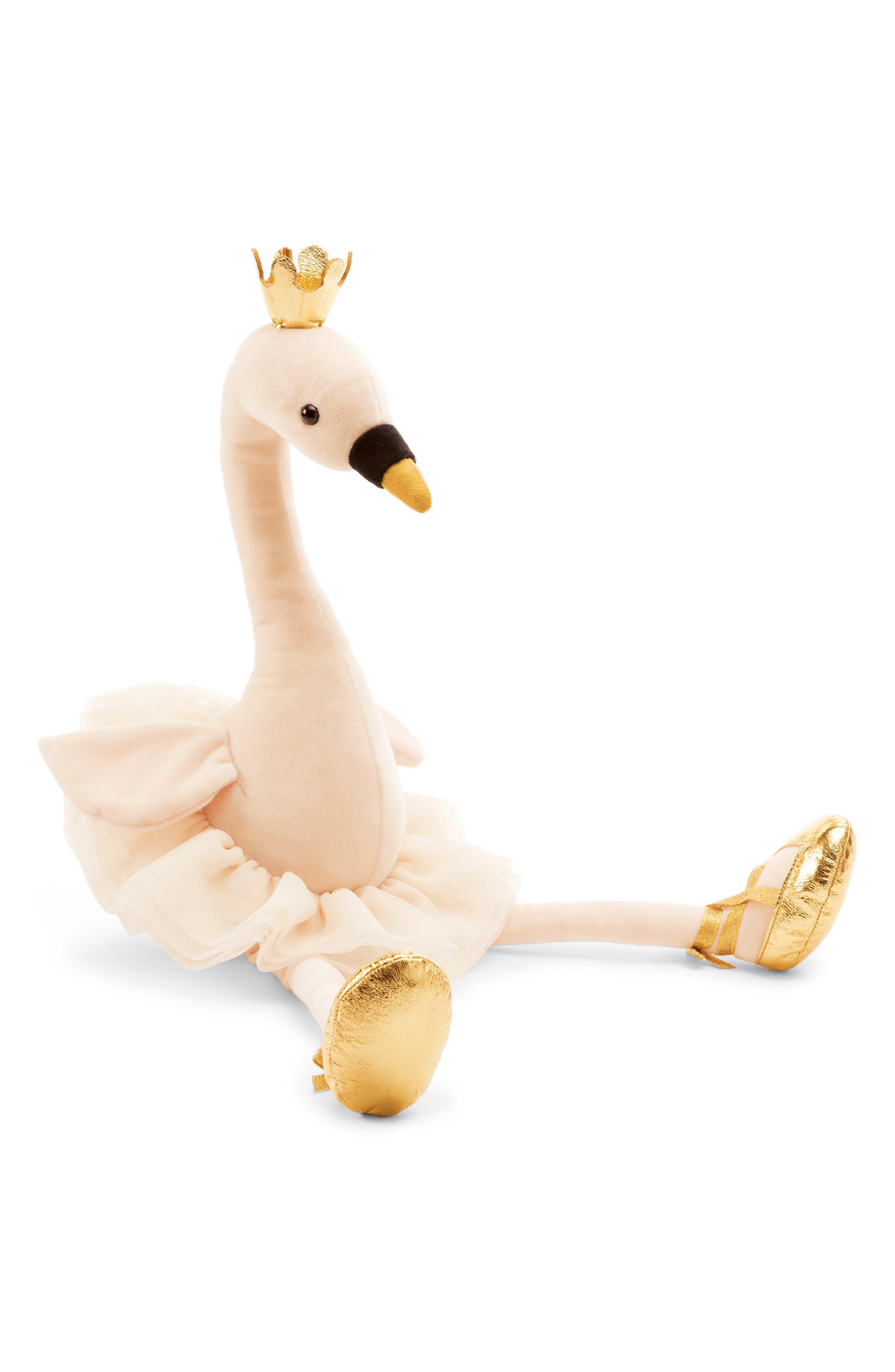 Large Fancy Swan Stuffed Animal,                         Main,                         color, CREAM