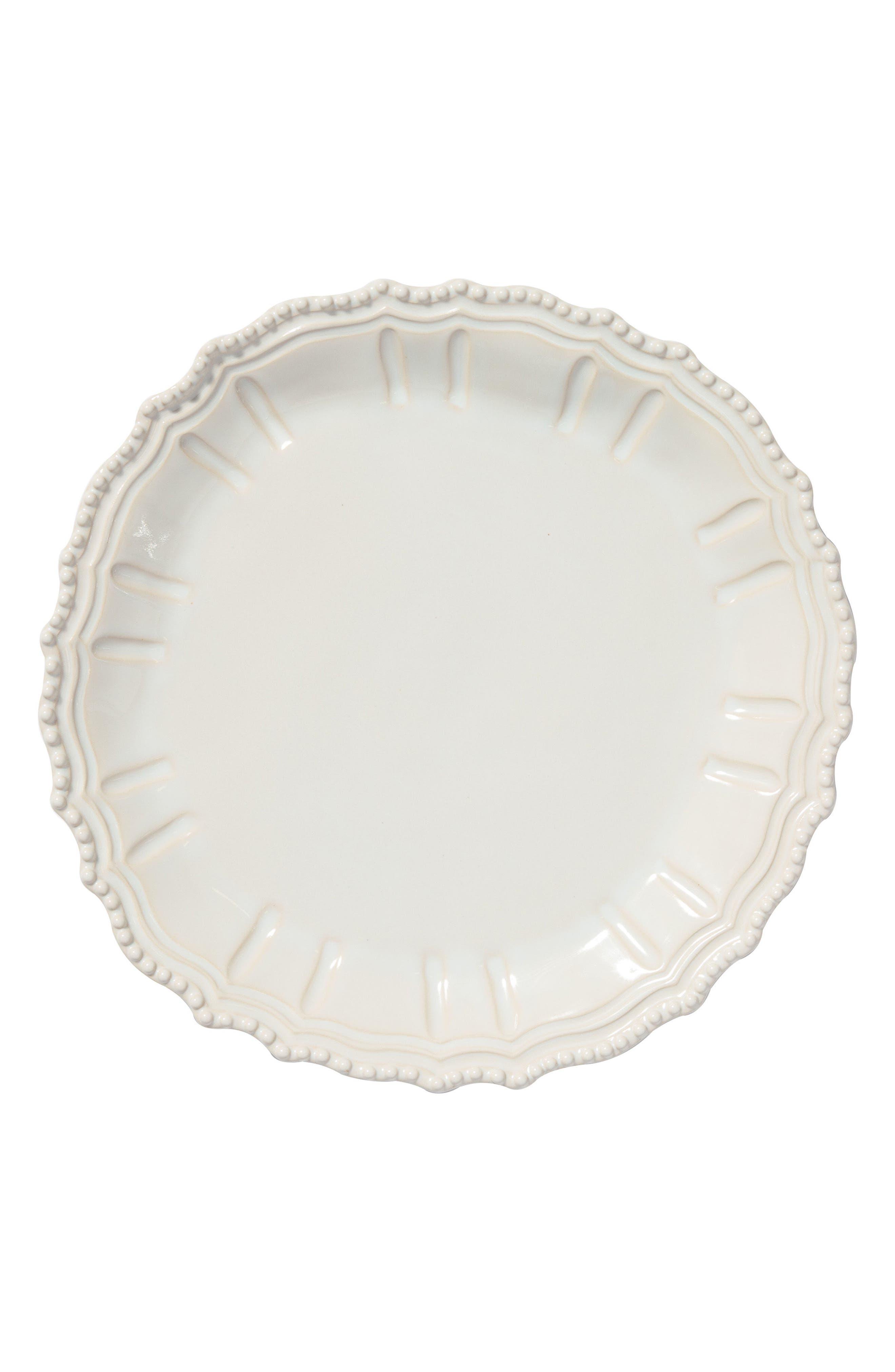 Incanto Stone Baroque Platter,                             Main thumbnail 1, color,                             WHITE