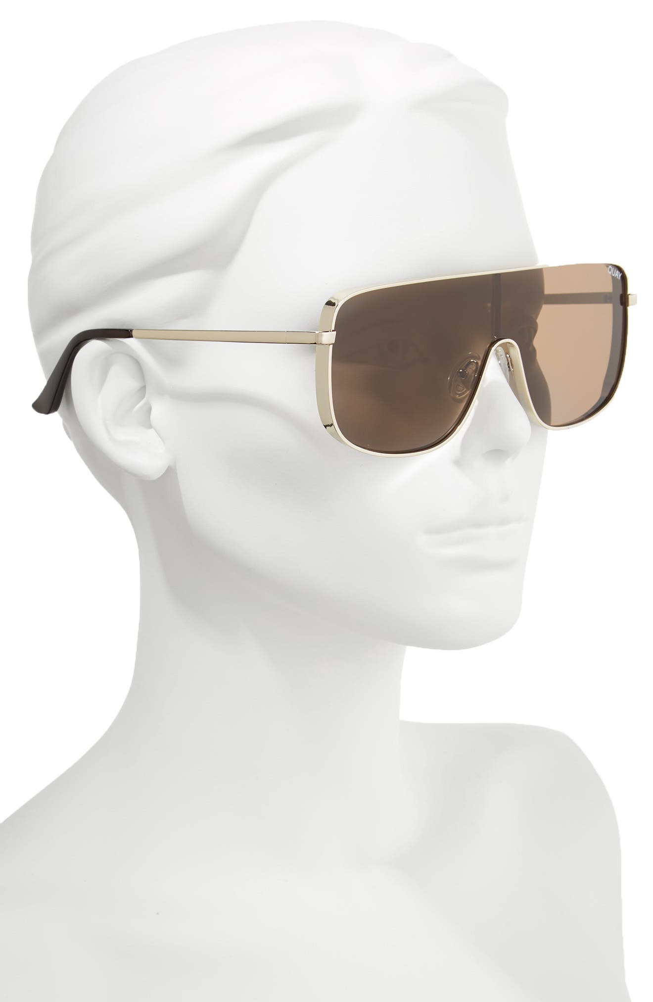 Unbothered 68mm Shield Sunglasses,                             Alternate thumbnail 4, color,