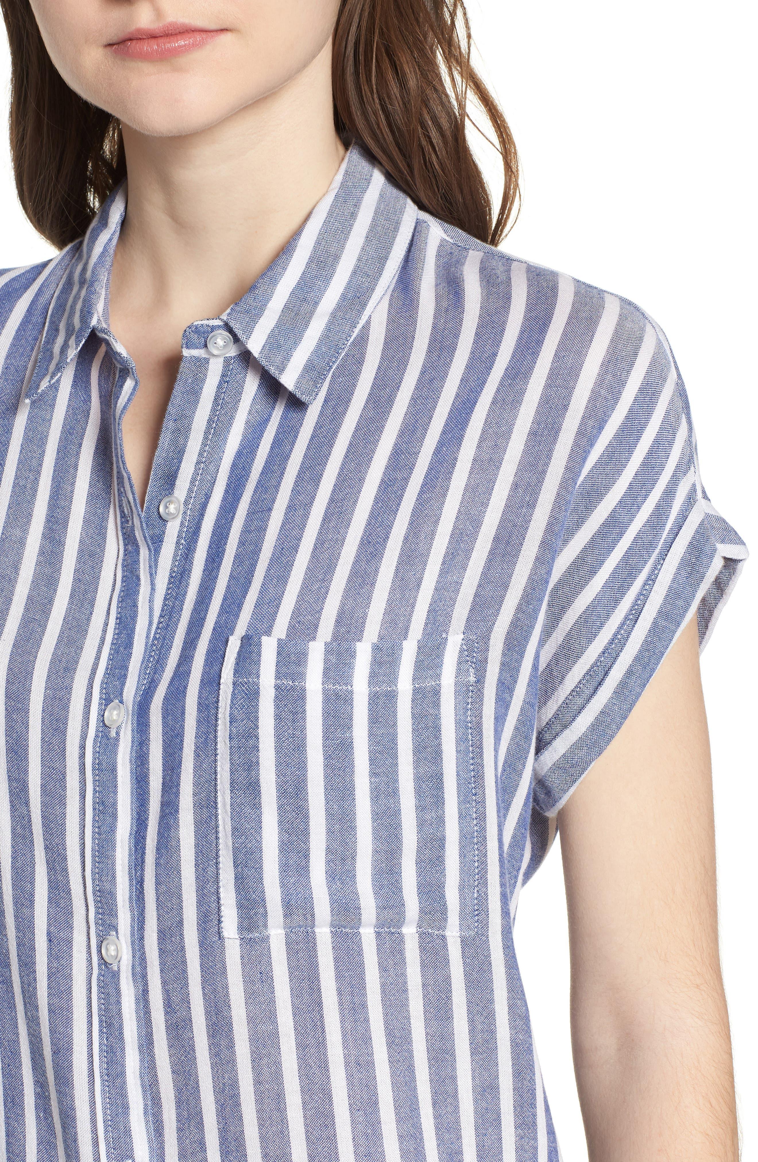 Benji Stripe Shirt,                             Alternate thumbnail 4, color,                             400
