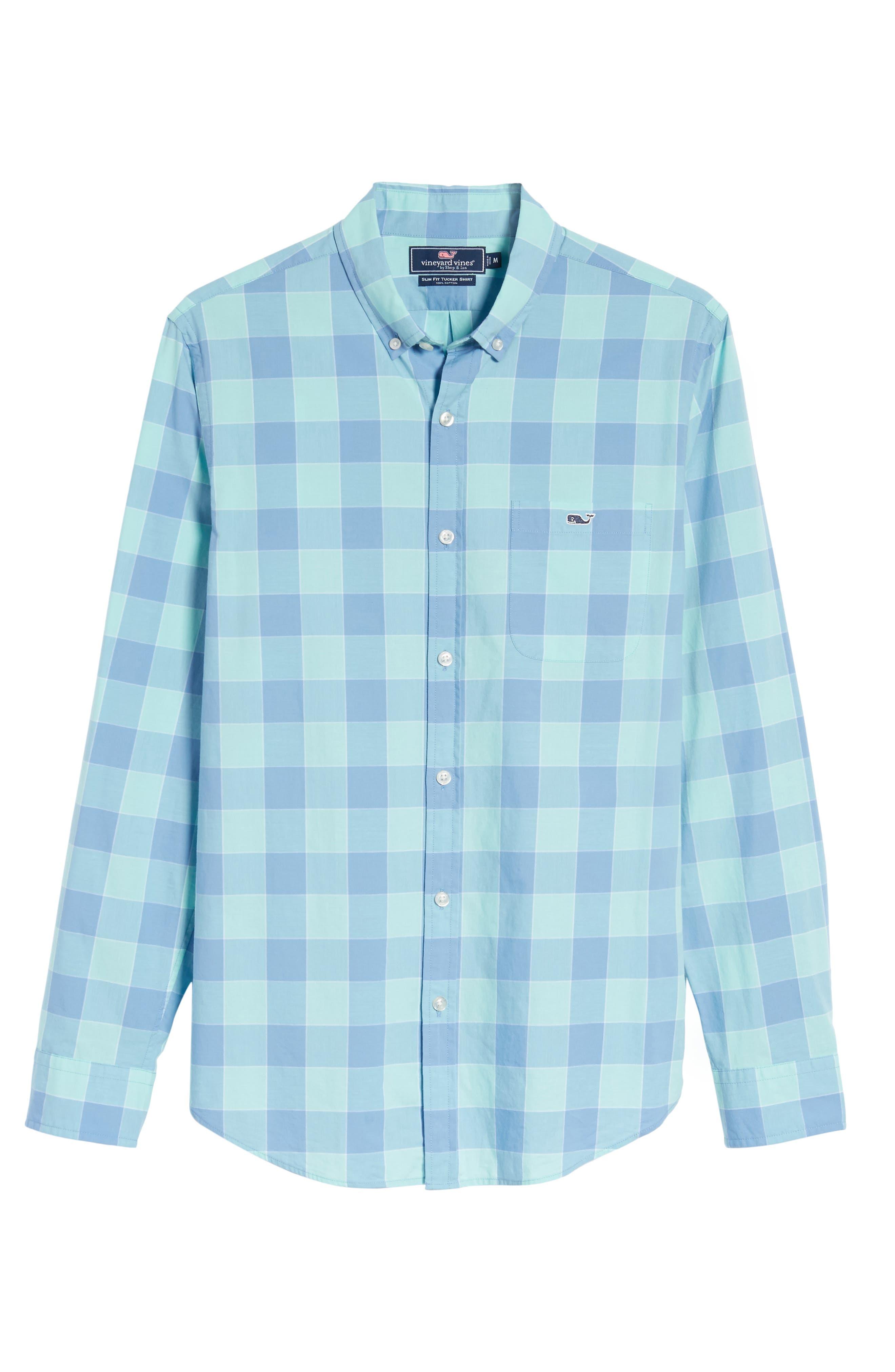Hideaway Check Tucker Slim Fit Sport Shirt,                             Alternate thumbnail 6, color,                             407
