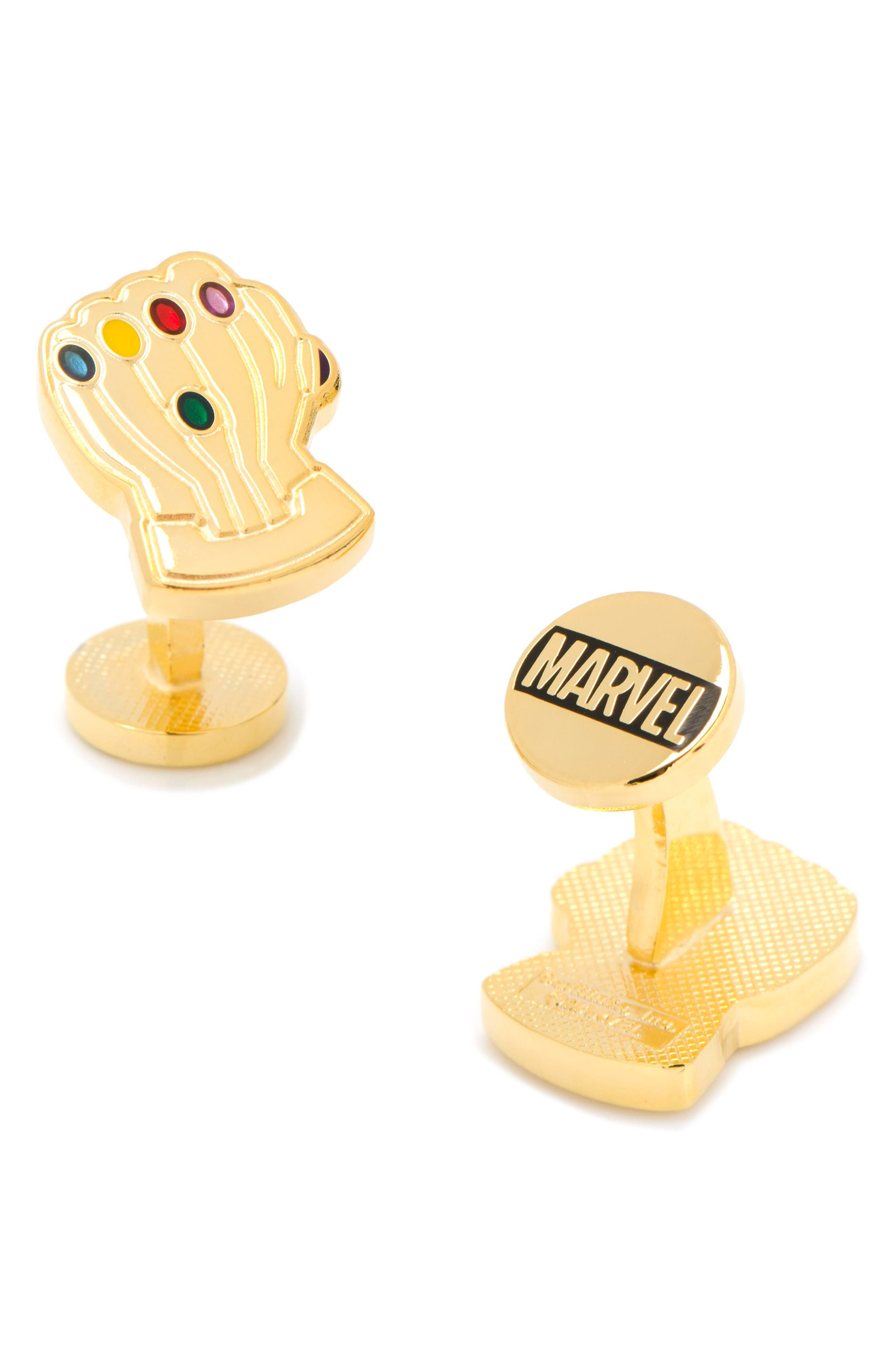 Thanos Infinity Gauntlet Cuff Links,                             Alternate thumbnail 2, color,                             GOLD