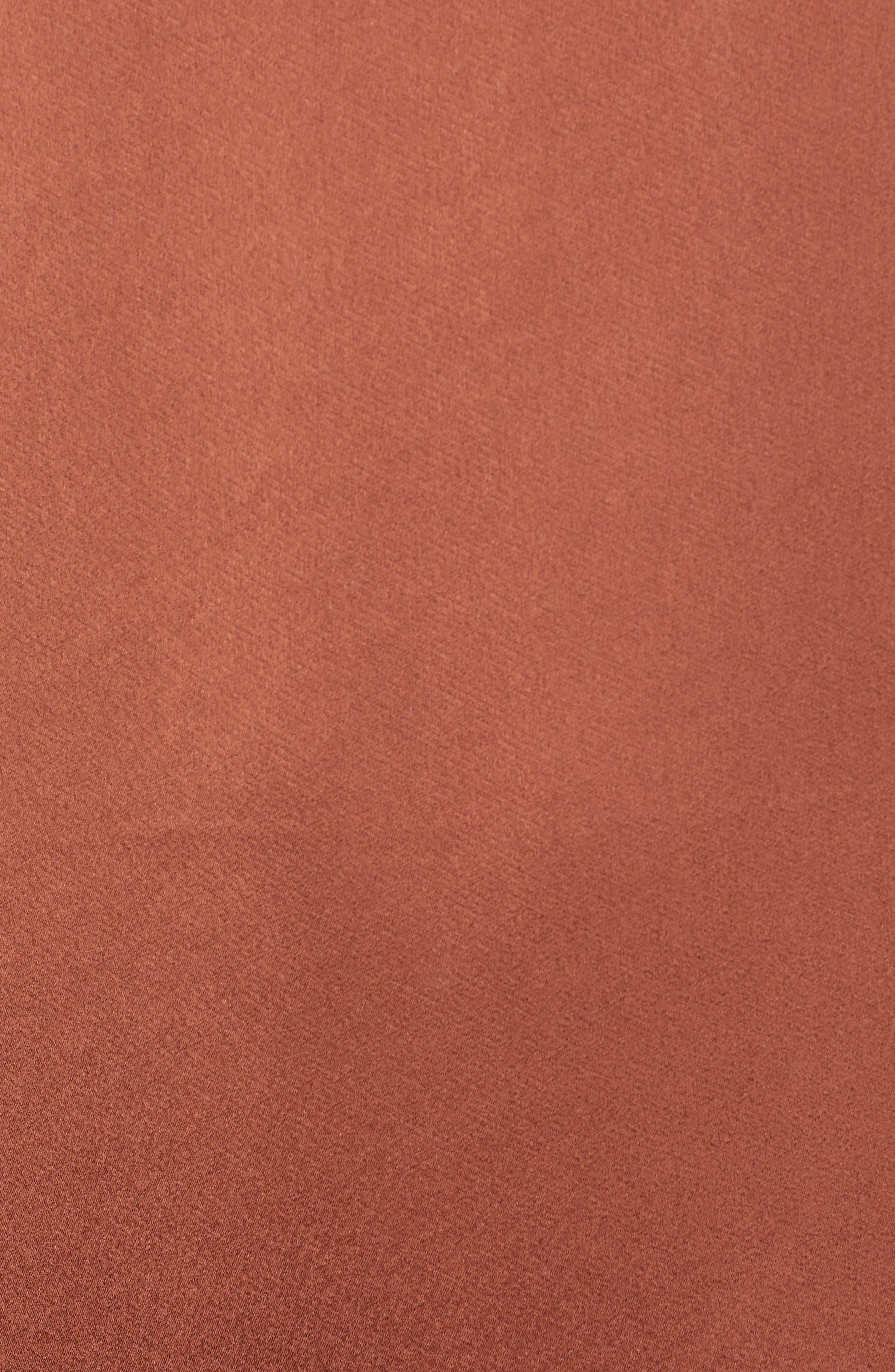 Voluminous Sleeve Shift Dress,                             Alternate thumbnail 6, color,                             BRICK