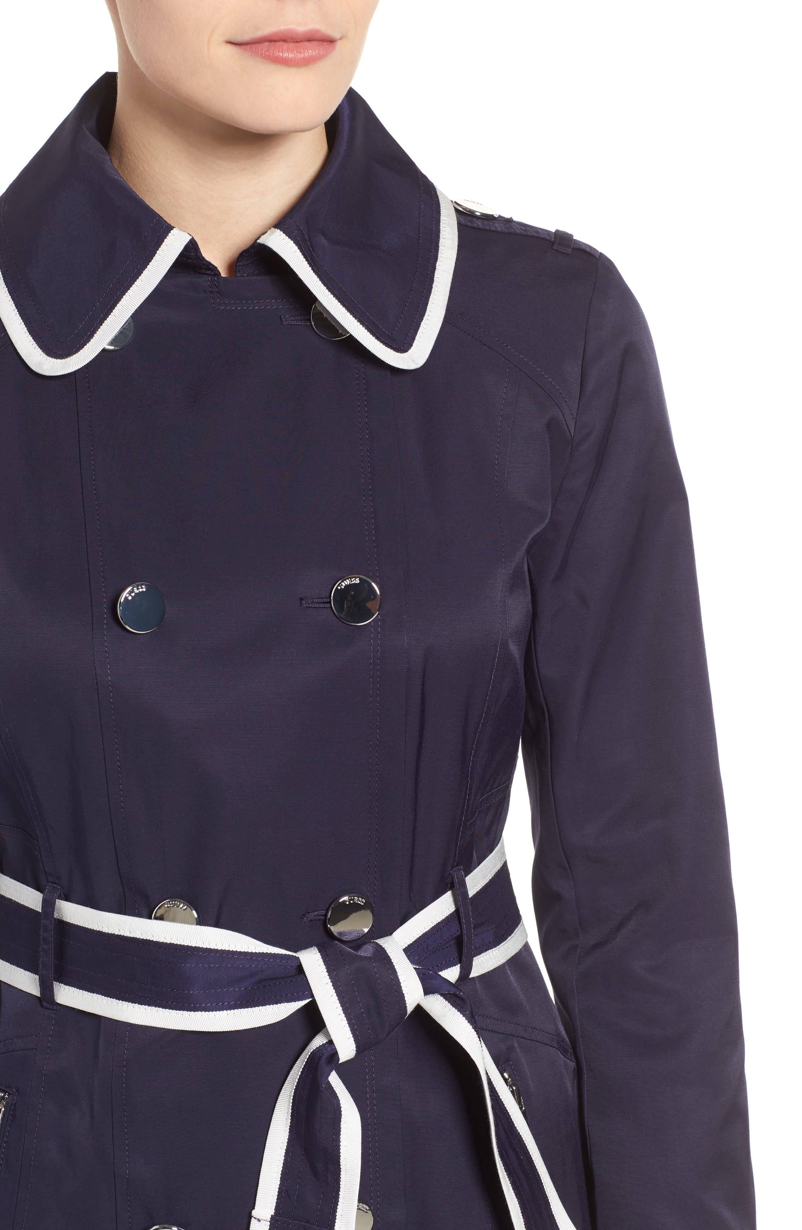 Piped Trench Coat,                             Alternate thumbnail 4, color,                             410