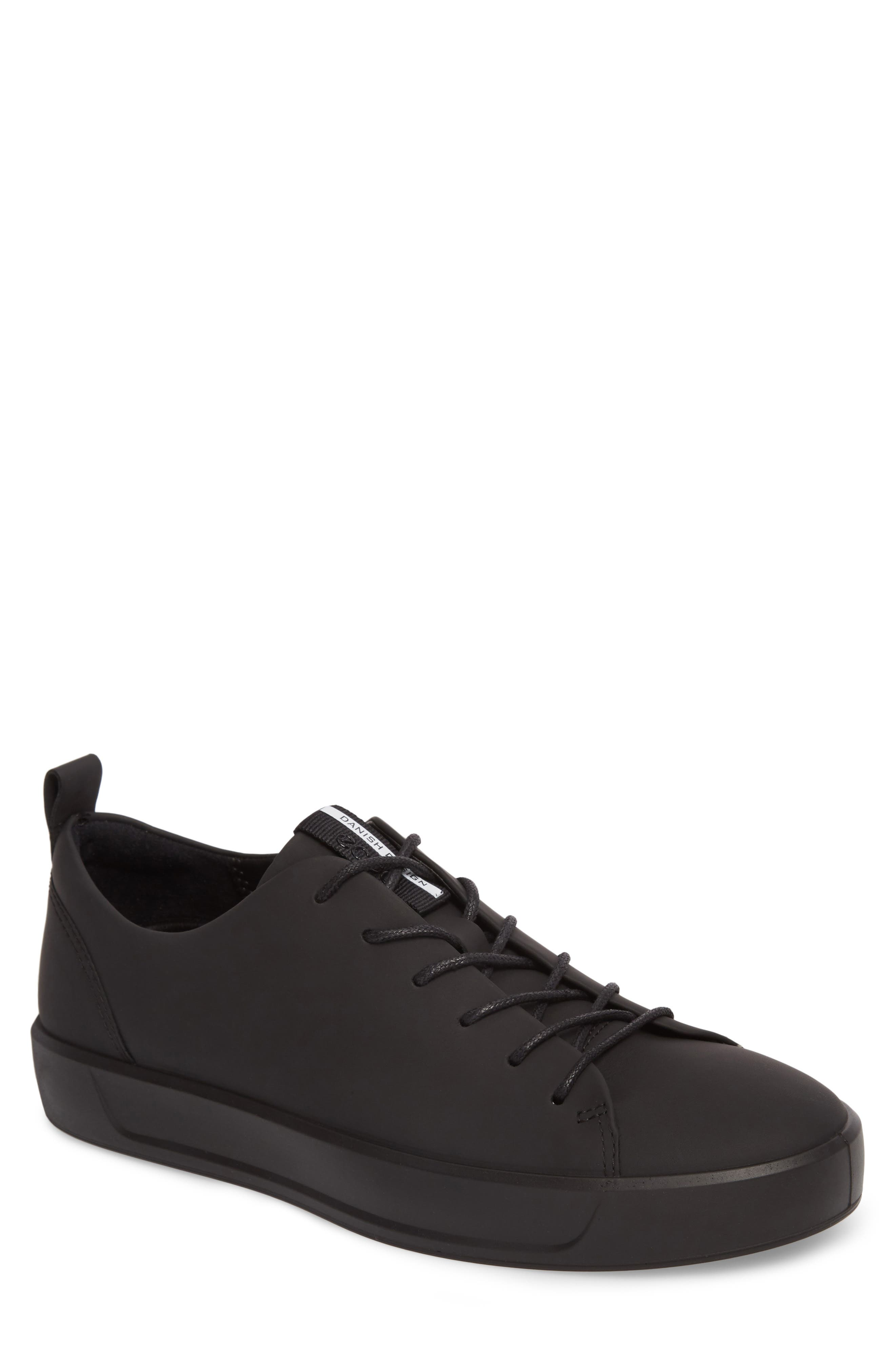 ECCO,                             Soft 8 Sneaker,                             Main thumbnail 1, color,                             BLACK LEATHER