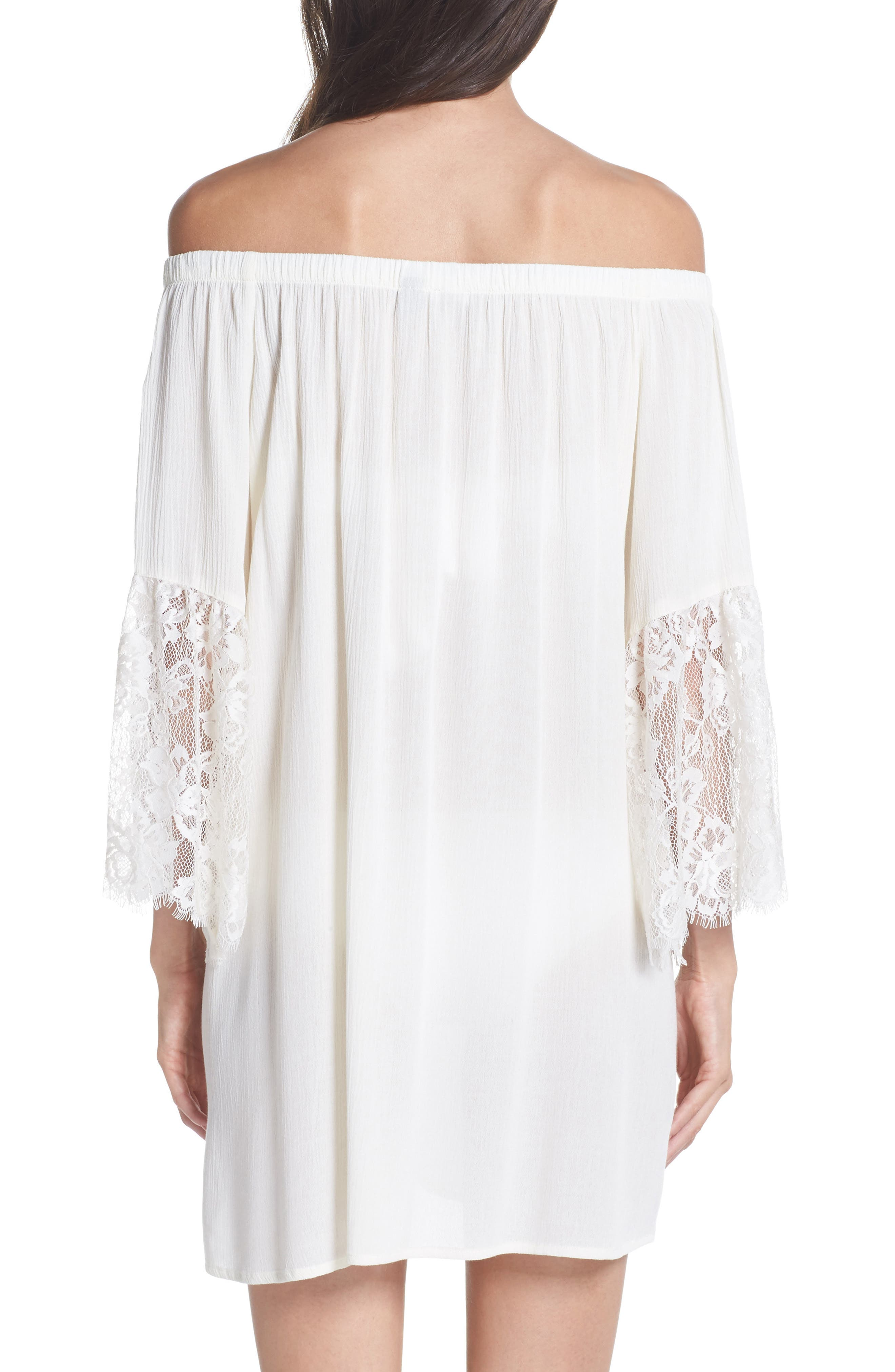 Off the Shoulder Cover-Up Dress,                             Alternate thumbnail 5, color,
