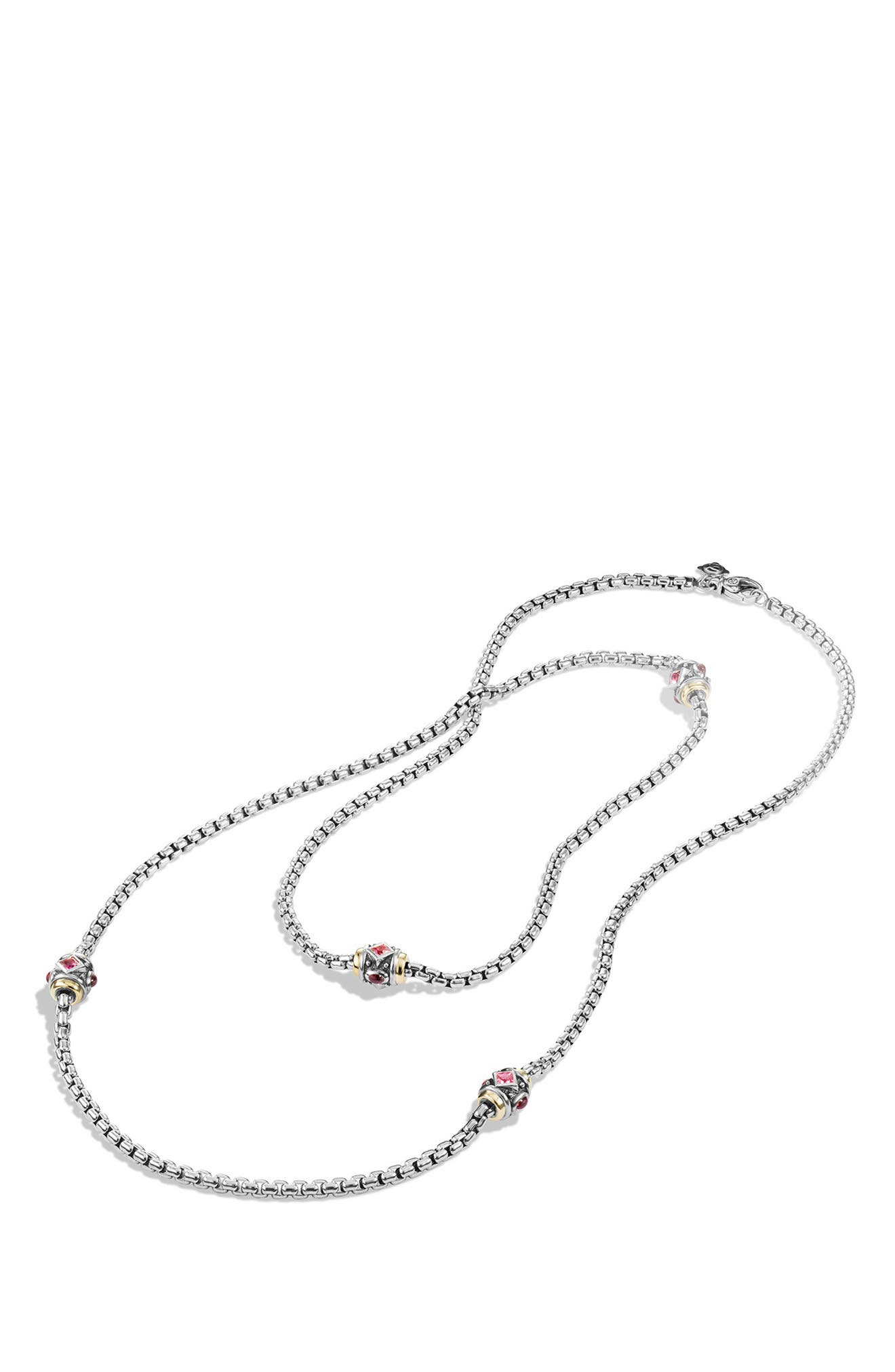 'Renaissance' Necklace with Semiprecious Stone and 18k Gold,                             Alternate thumbnail 2, color,                             650