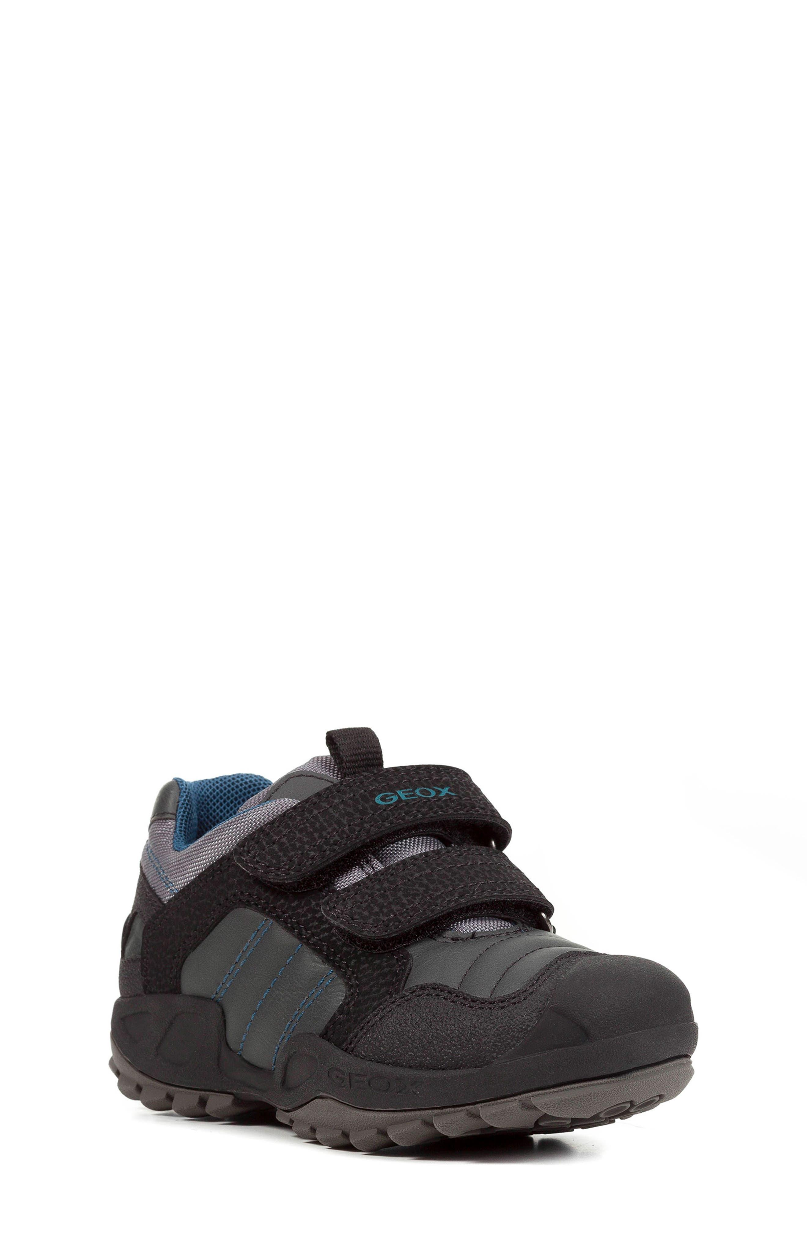 New Savage Sneaker,                         Main,                         color, DARK GREY/PETROL
