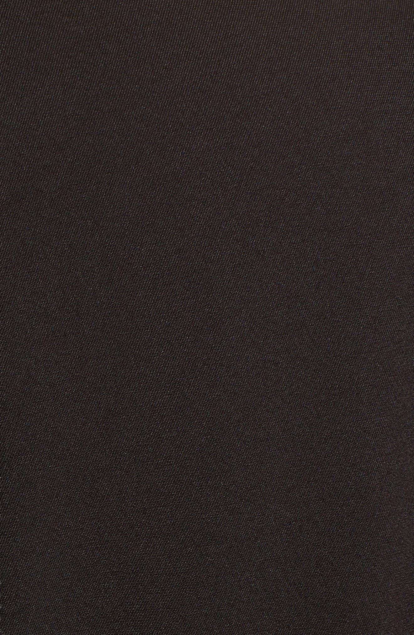 Abbey Draped Collar Wrap Coat,                             Alternate thumbnail 7, color,                             BLACK