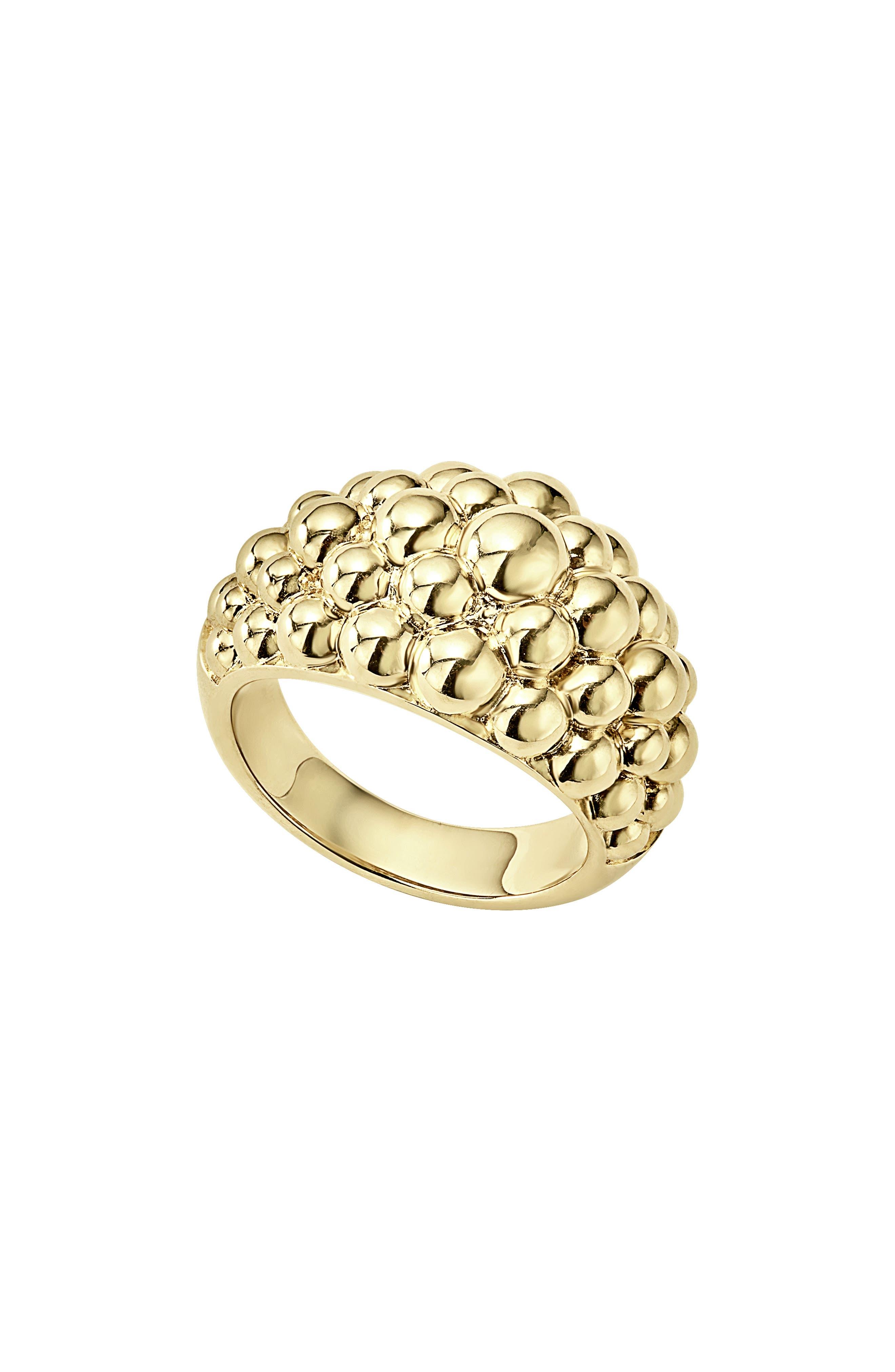 LAGOS,                             Caviar Gold Bold Dome Ring,                             Main thumbnail 1, color,                             GOLD