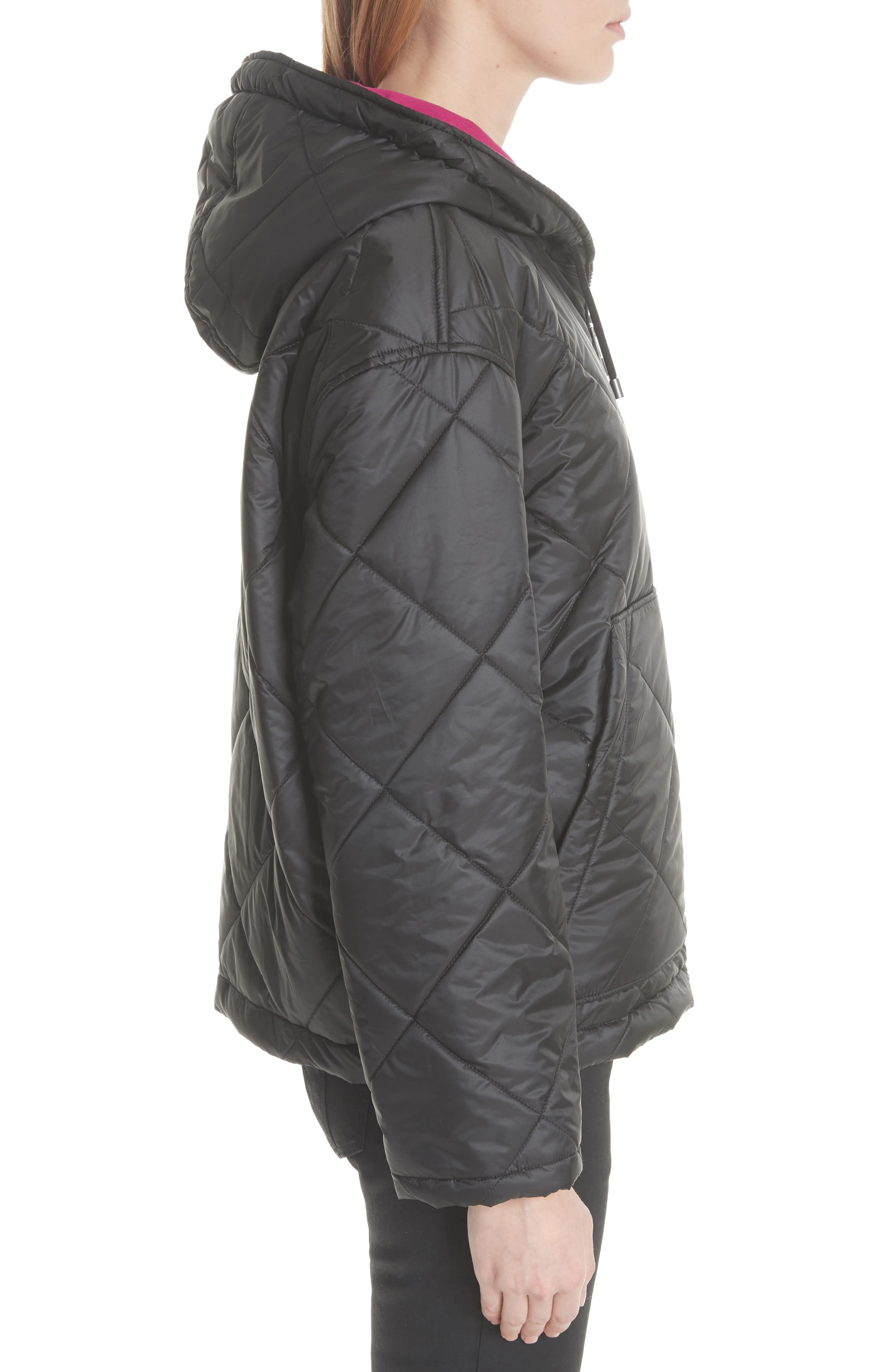Tyneham Lined Quilted Jacket,                             Alternate thumbnail 3, color,                             001
