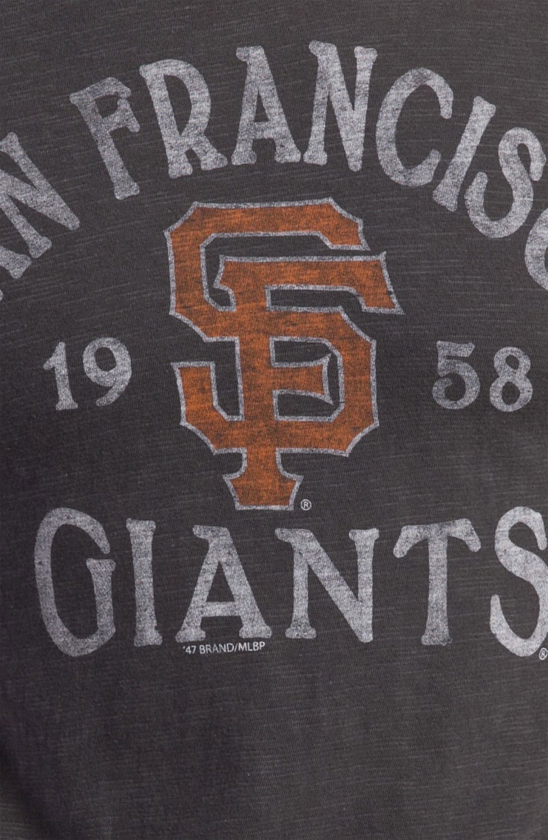 'Chicago Cubs' Regular Fit Crewneck T-Shirt,                             Alternate thumbnail 52, color,