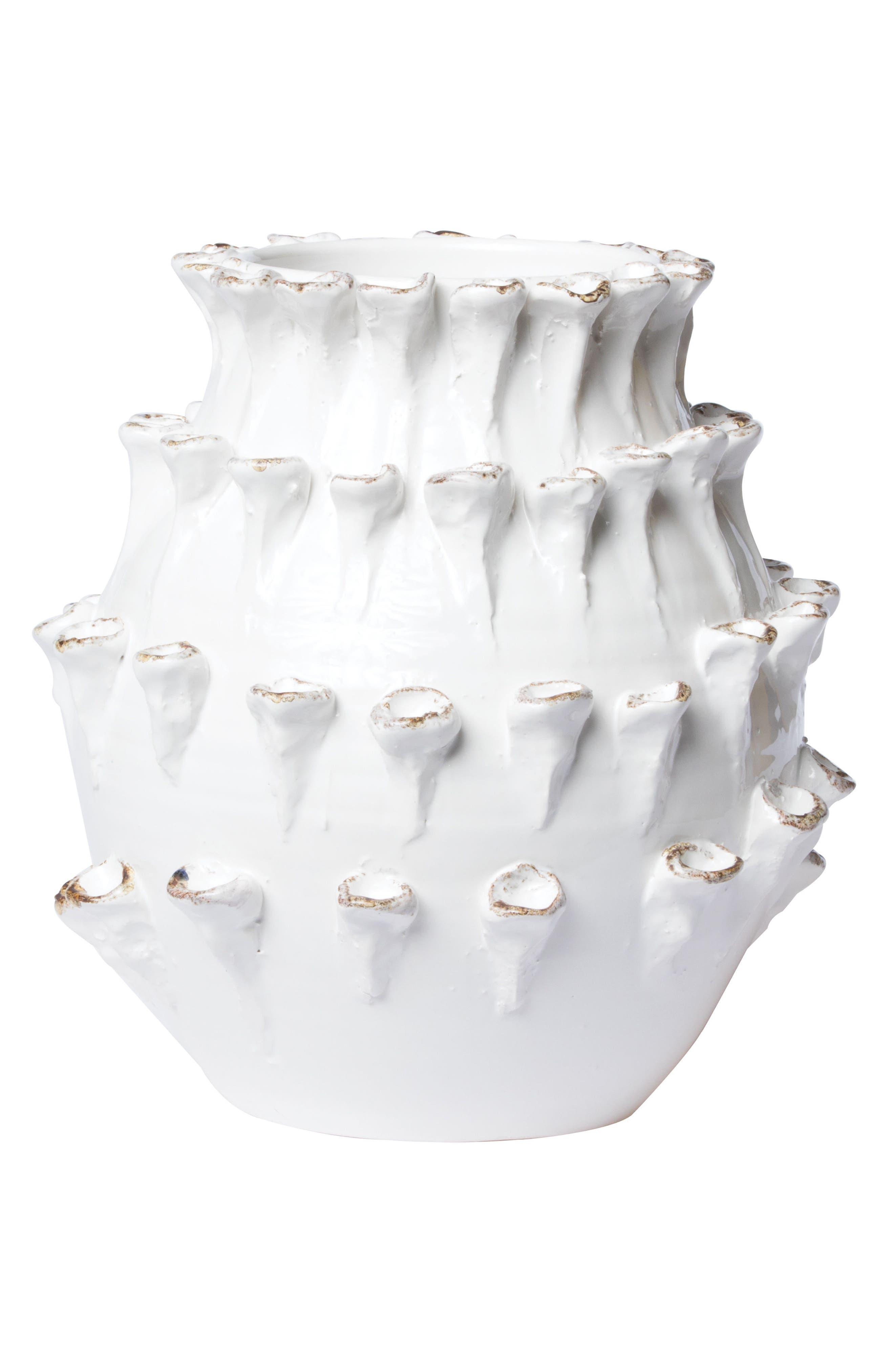 Artistic Edges Medium Vase,                         Main,                         color, WHITE