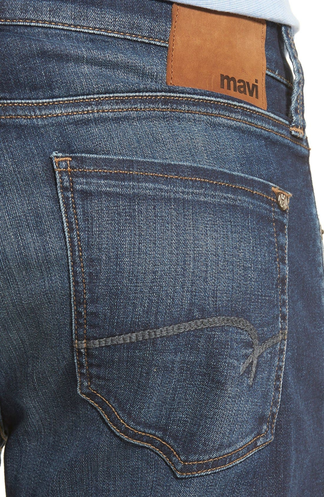 MAVI JEANS,                             Zach Straight Leg Jeans,                             Alternate thumbnail 7, color,                             DARK BRUSHED WILLIAMSBURG