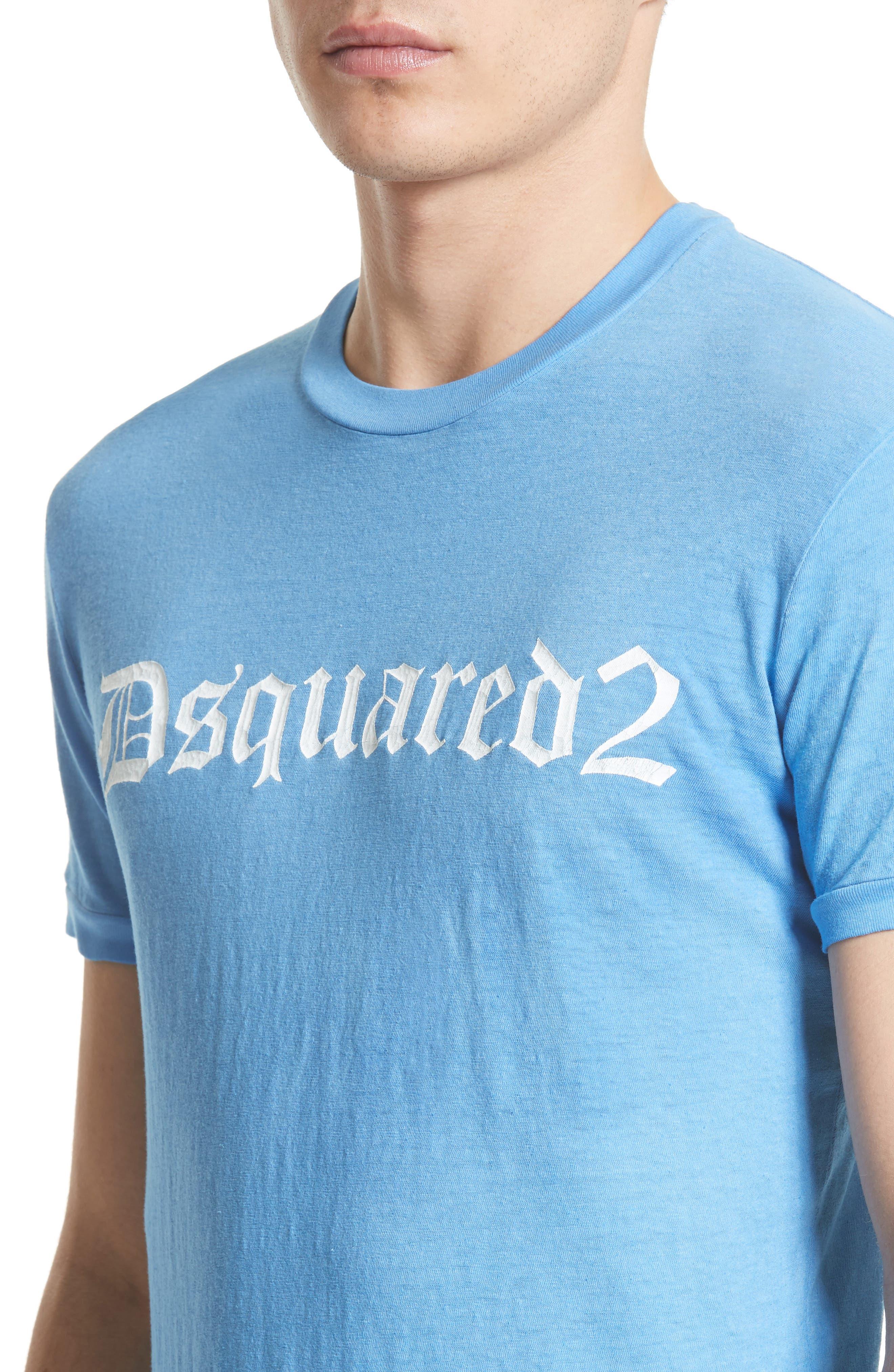 Dquared2 Cotton T-Shirt,                             Alternate thumbnail 4, color,                             449