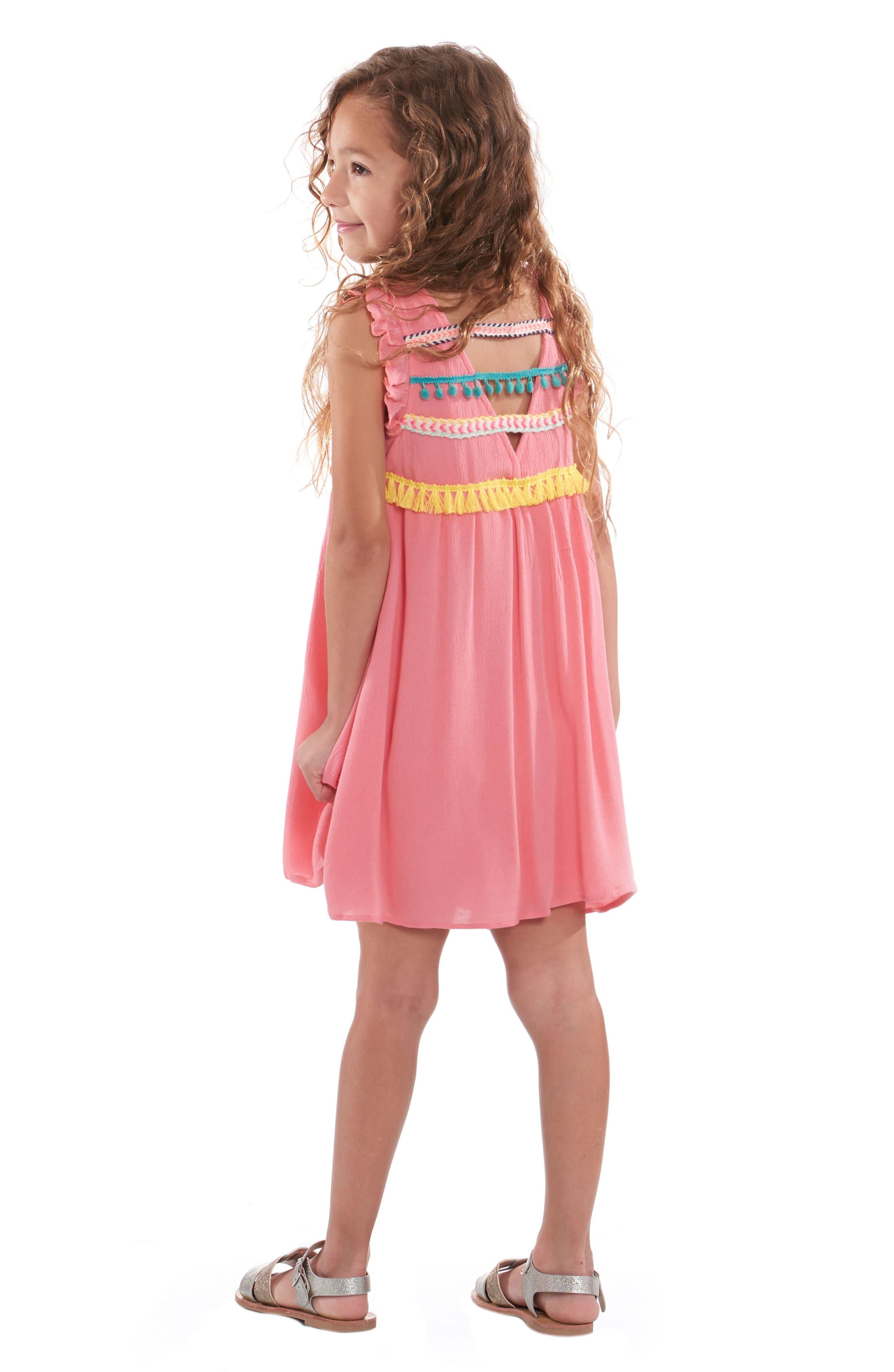 Trim Babydoll Dress,                             Alternate thumbnail 3, color,                             951
