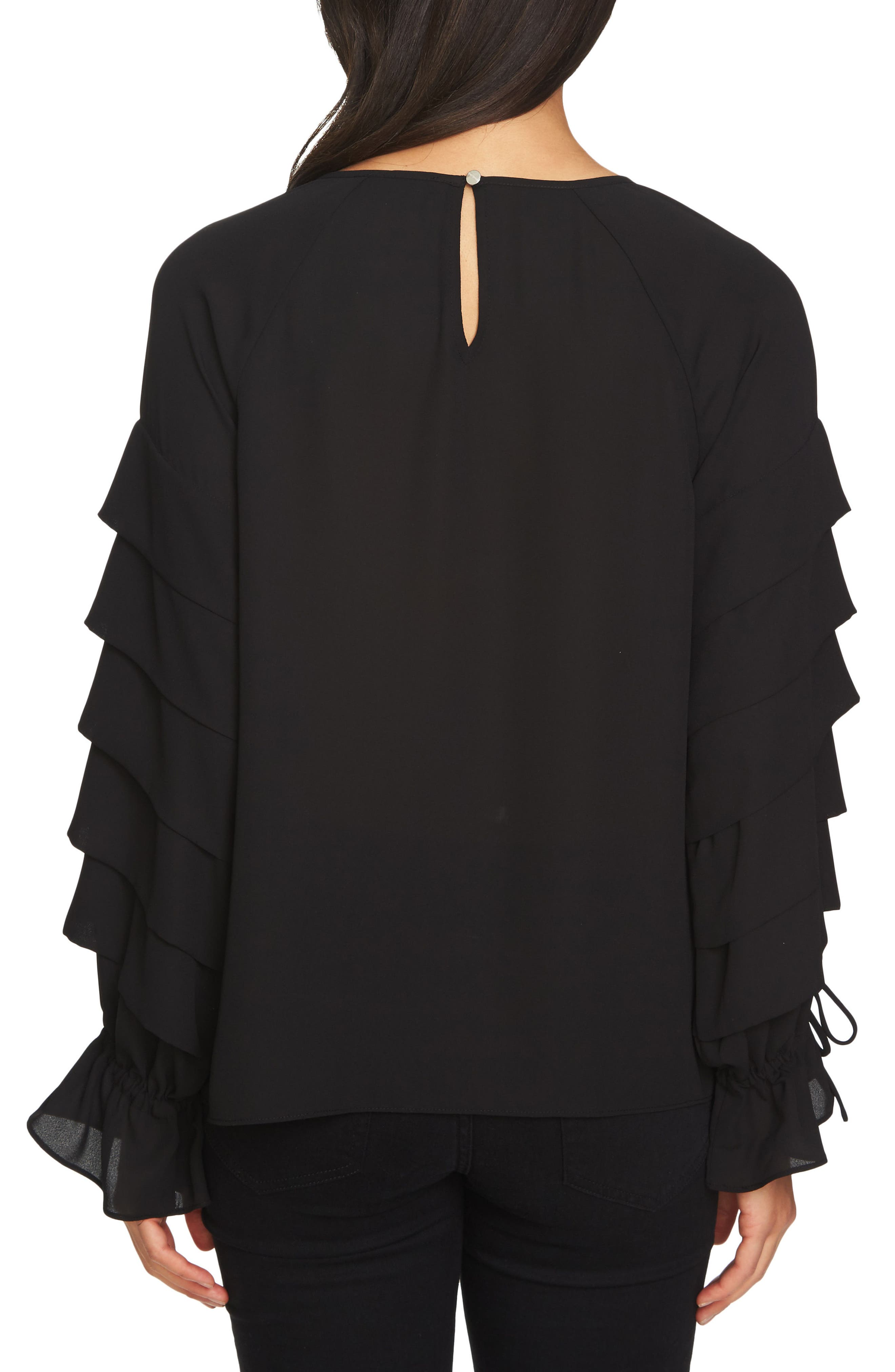 Tiered Sleeve Top,                             Alternate thumbnail 4, color,