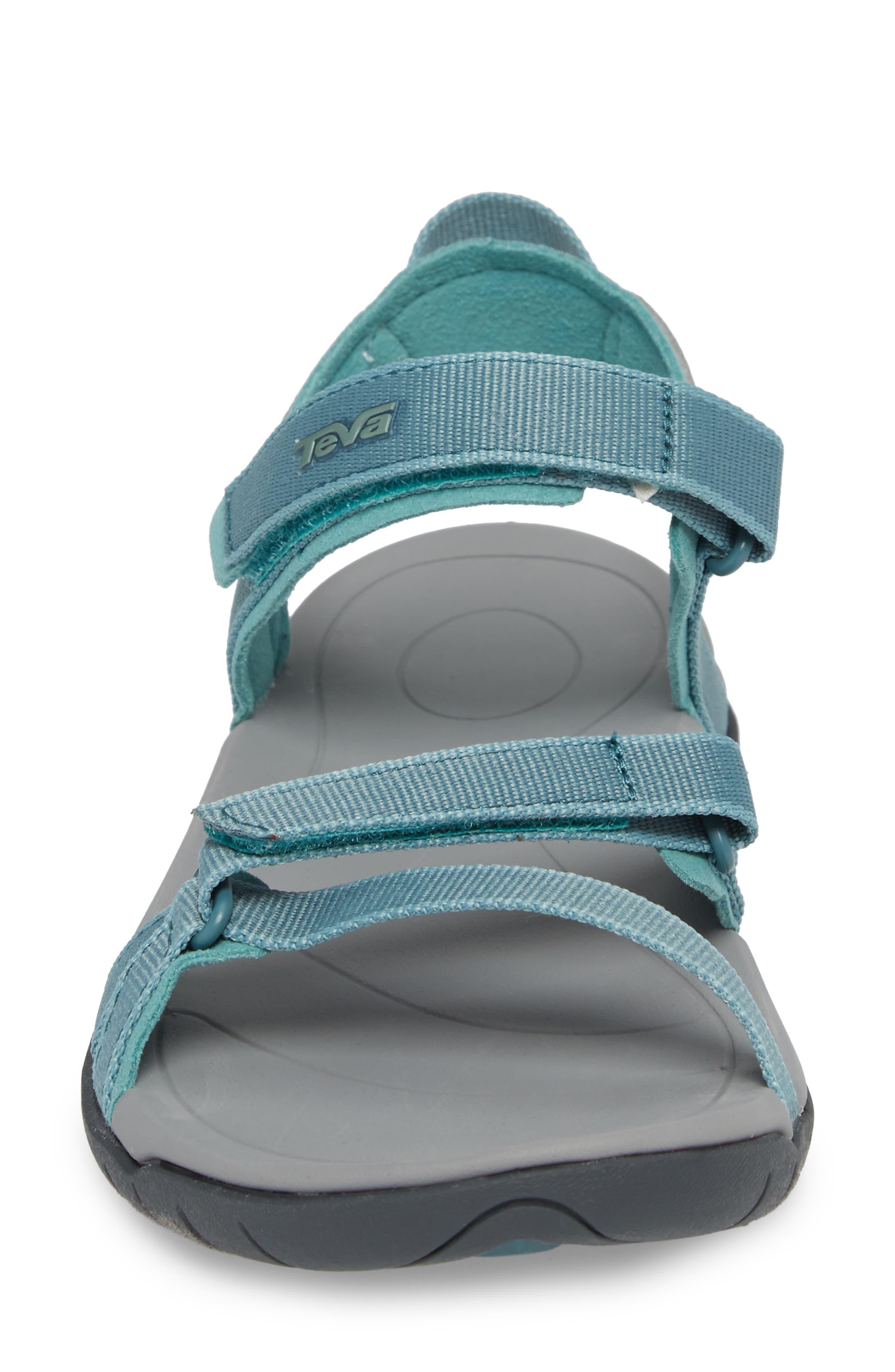 'Verra' Sandal,                             Alternate thumbnail 4, color,                             NORTH ATLANTIC