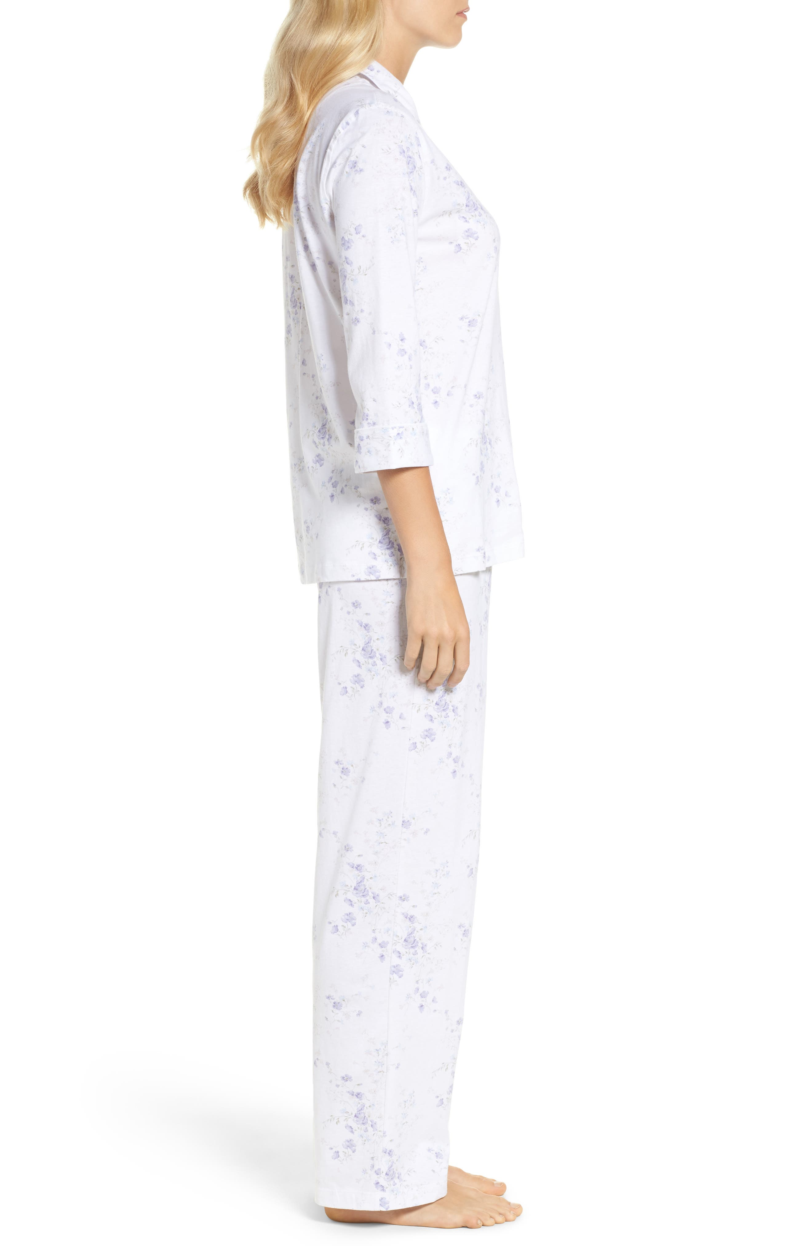 Notch Collar Pajamas,                             Alternate thumbnail 6, color,