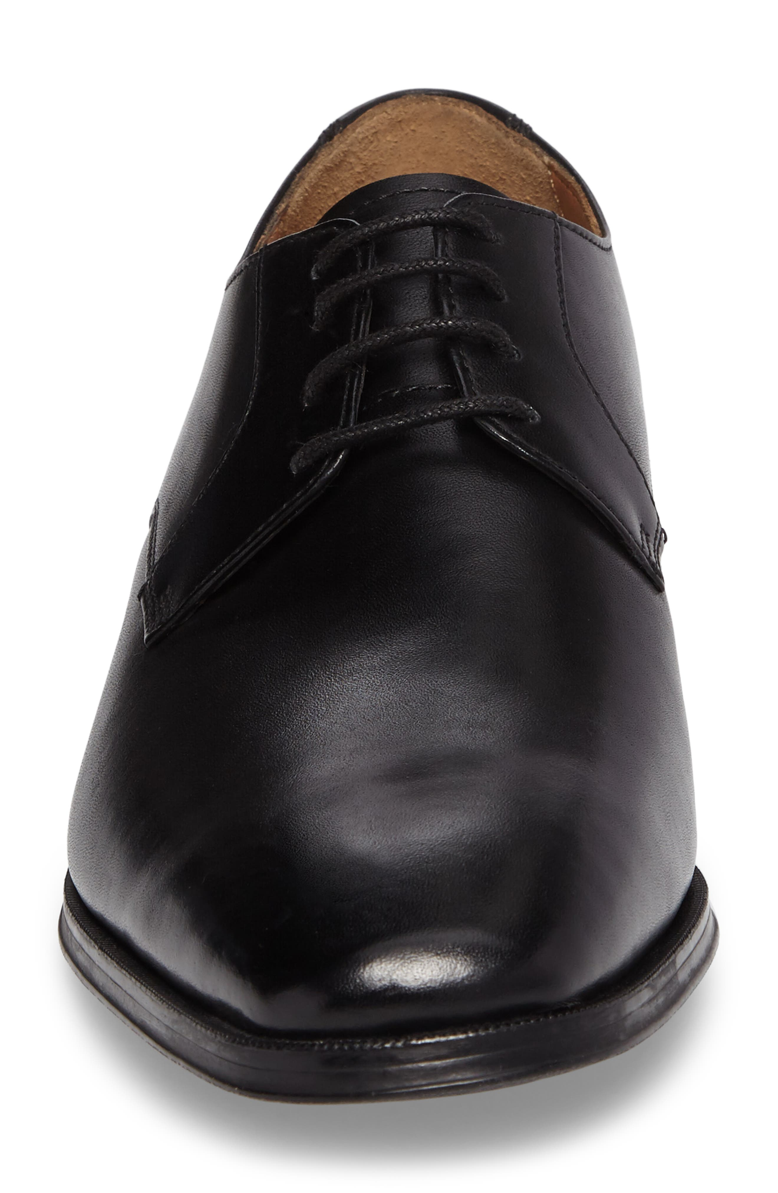 Gilman Lace Derby,                             Alternate thumbnail 4, color,                             BLACK LEATHER