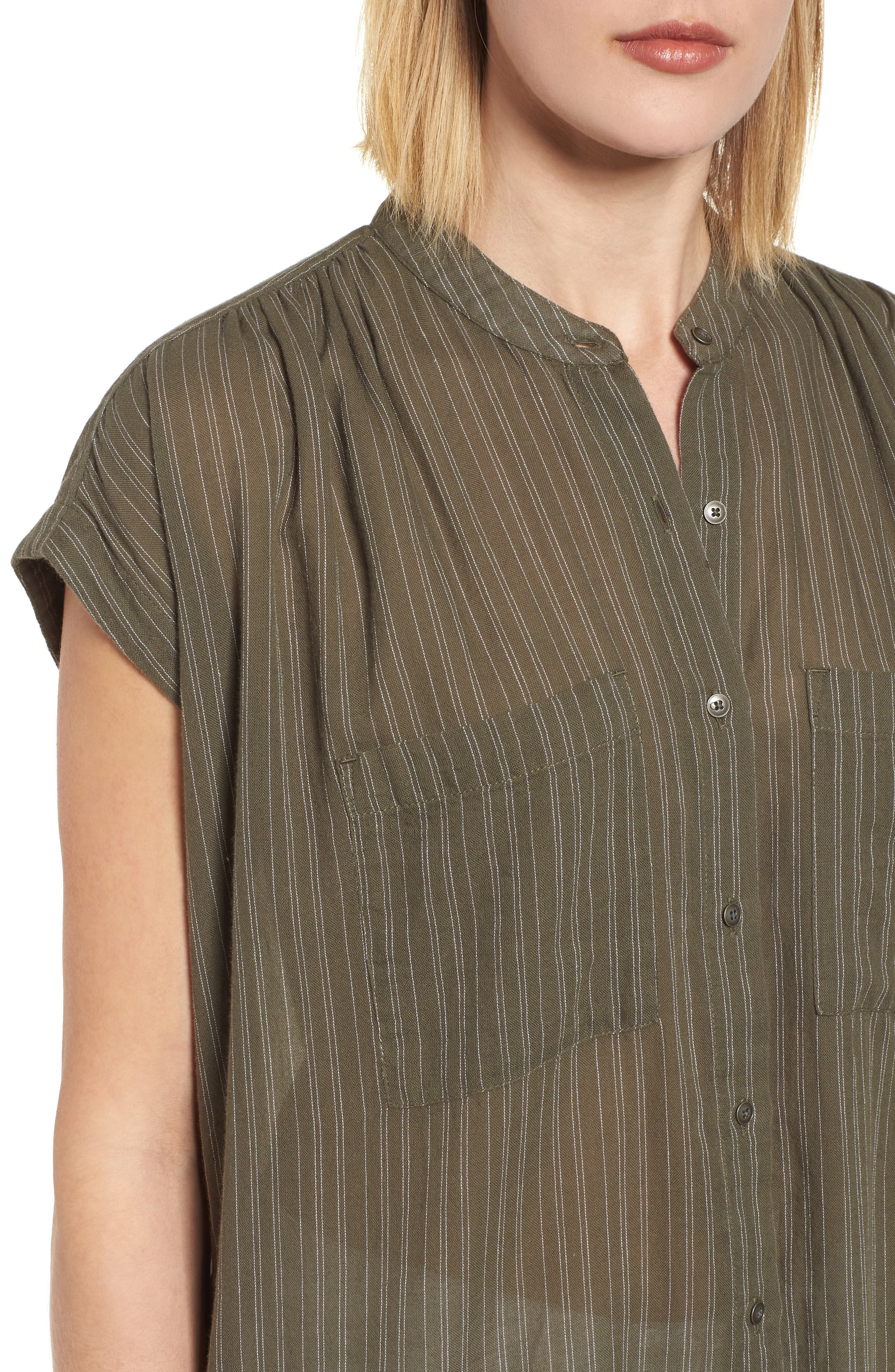 Button Front Longline Top,                             Alternate thumbnail 29, color,