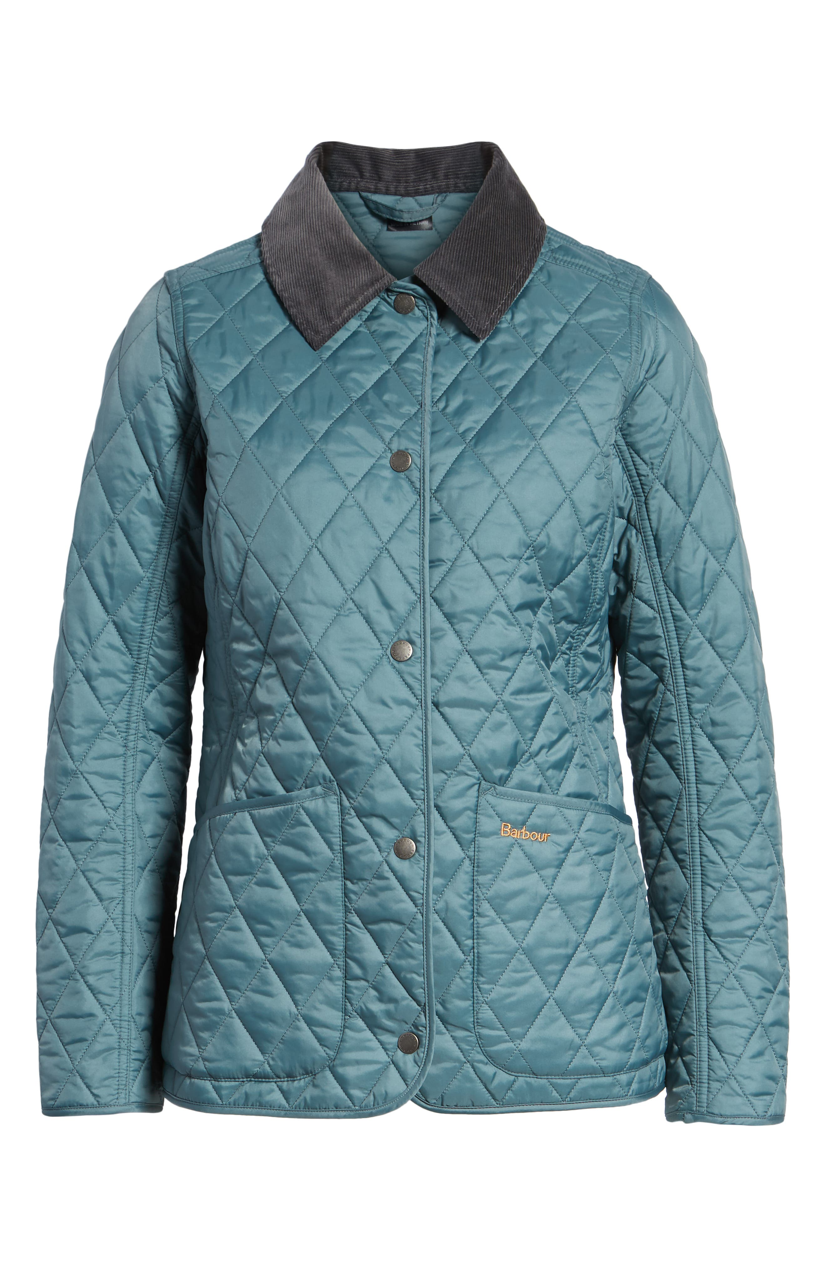 Annandale Quilted Jacket,                             Alternate thumbnail 6, color,                             EUCALYPTUS