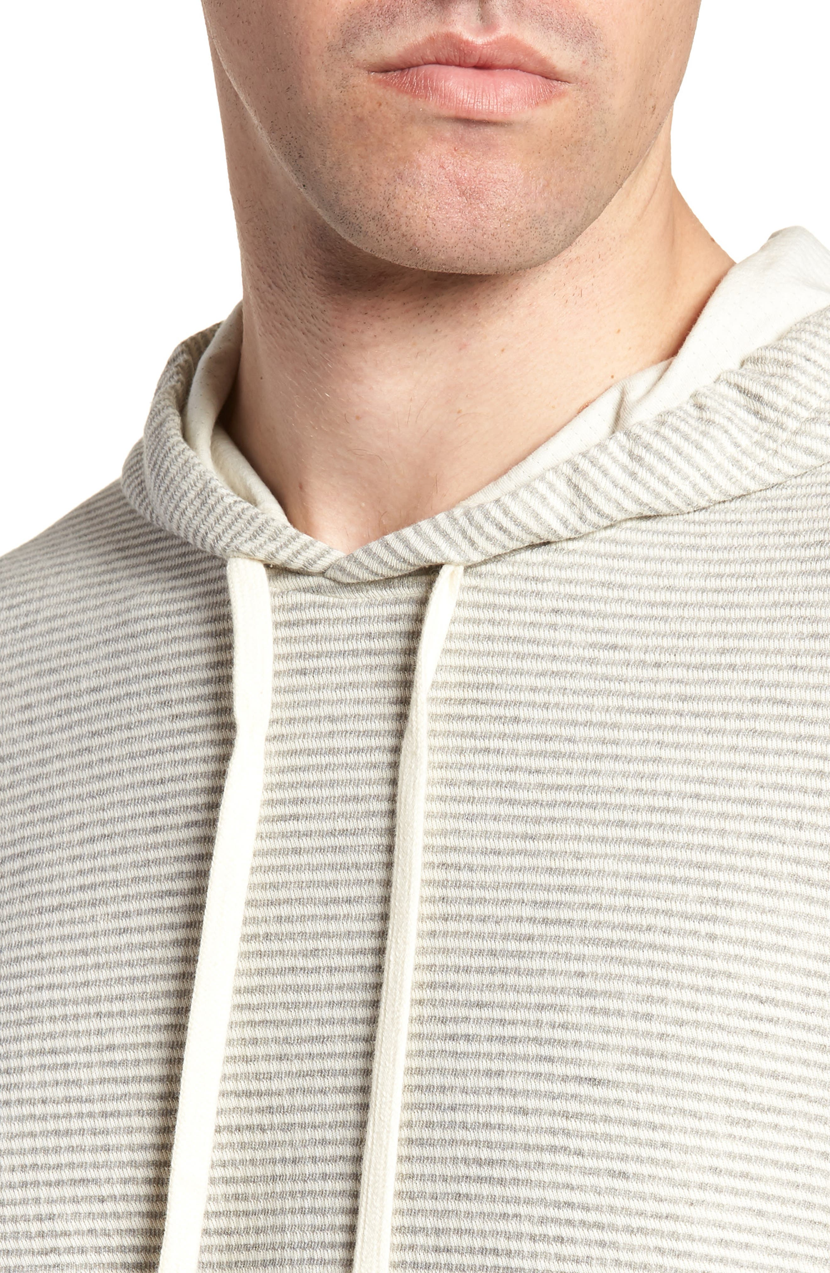 Cotton Blend Hoodie,                             Alternate thumbnail 4, color,                             GREY/ NATURAL