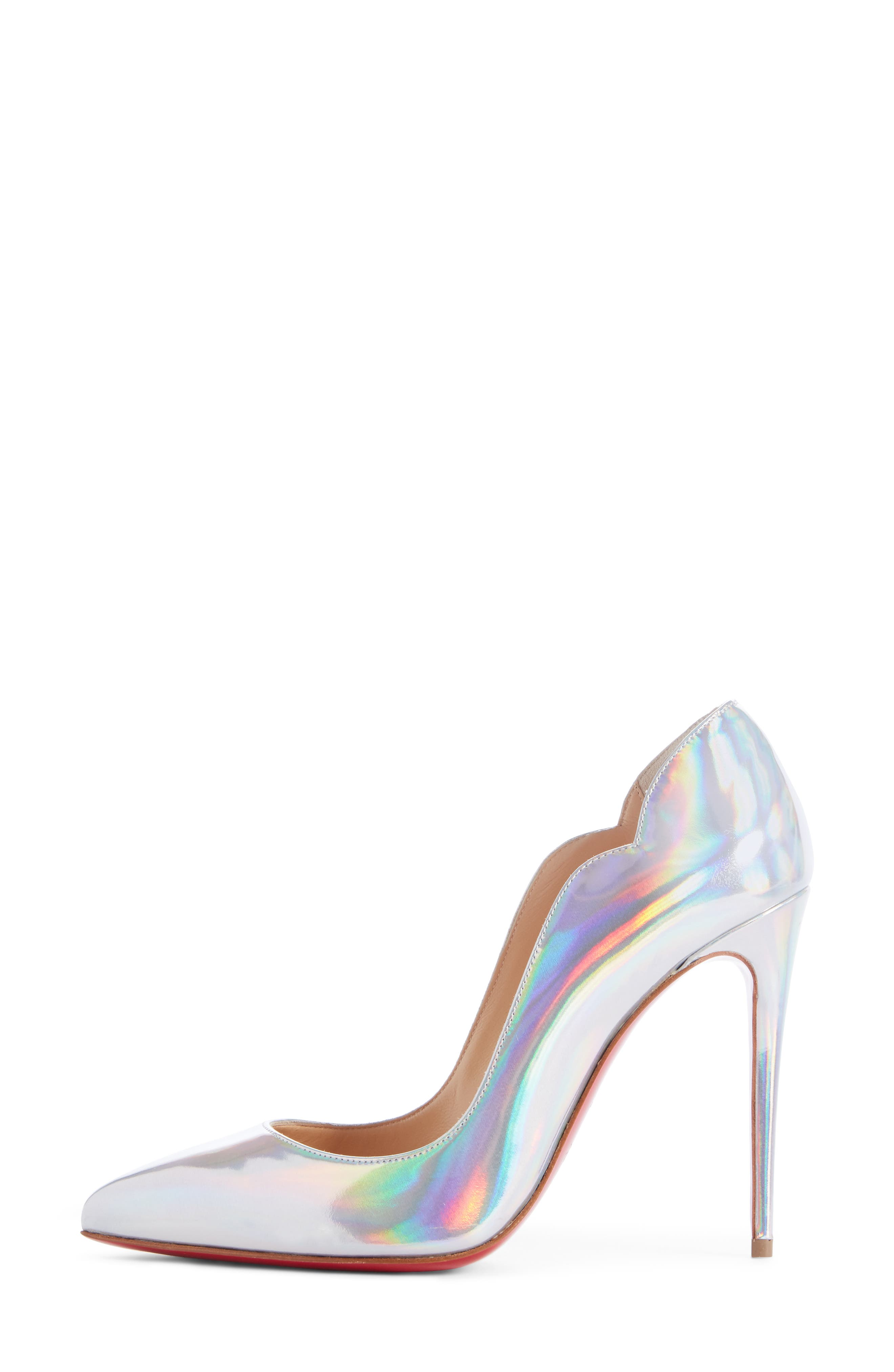 Hot Chick Scallop Pump,                             Alternate thumbnail 3, color,                             SILVER