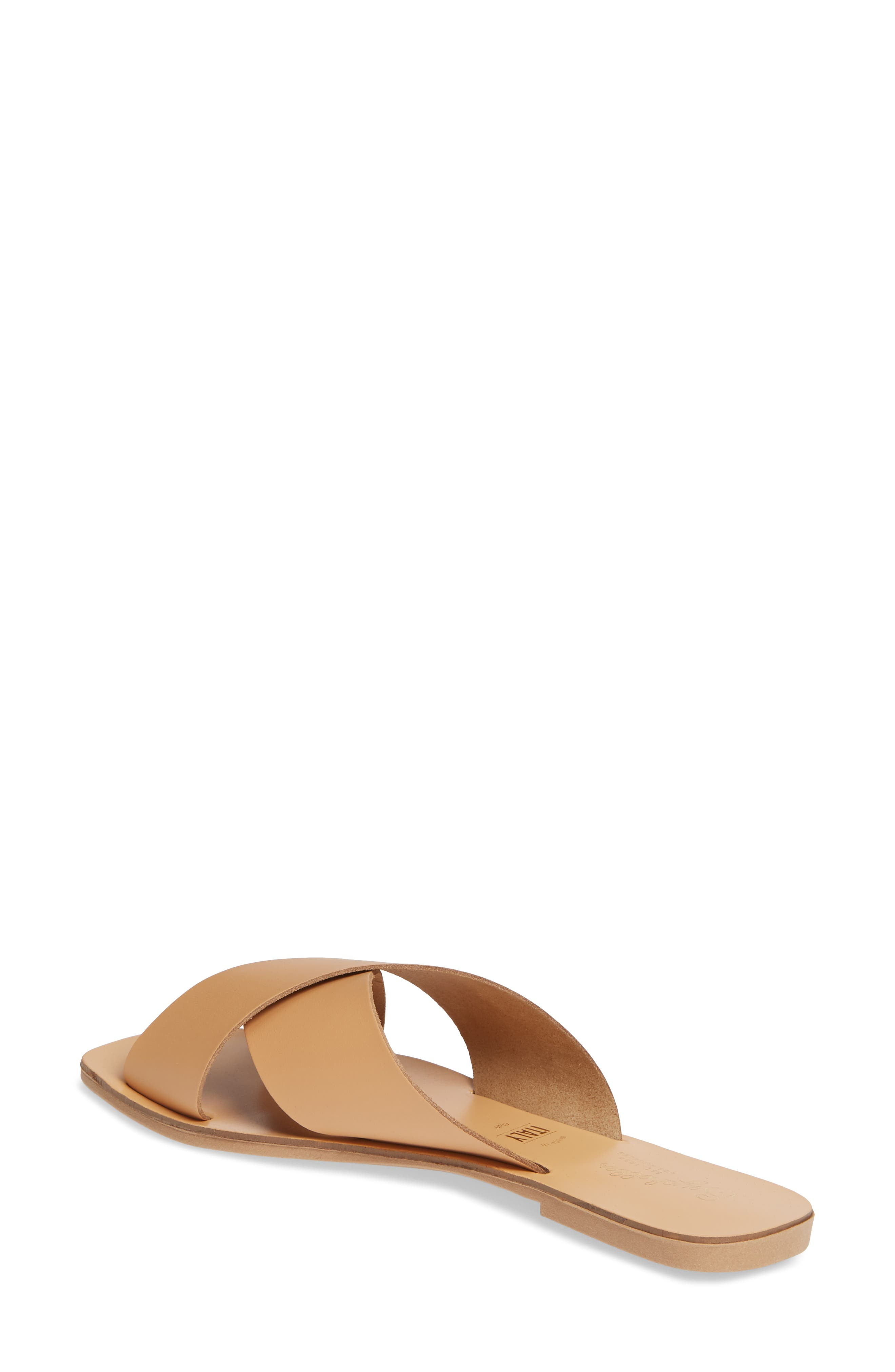 Total Relaxation Slide Sandal,                             Alternate thumbnail 2, color,                             BEIGE LEATHER